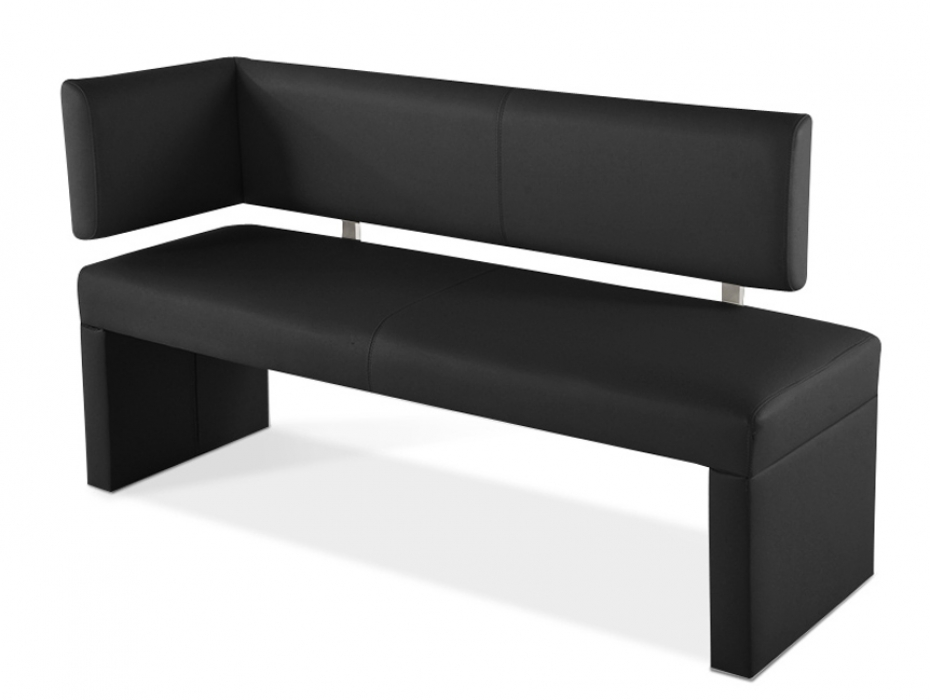 sam sitzbank mit lehne ottomane 130 cm schwarz sofia. Black Bedroom Furniture Sets. Home Design Ideas