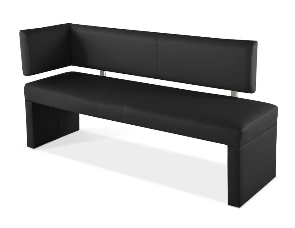 sam sitzbank mit lehne ottomane 150 cm schwarz sofia. Black Bedroom Furniture Sets. Home Design Ideas