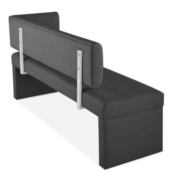 sam sitzbank ottomane recyceltes leder 130 cm grau sabatina. Black Bedroom Furniture Sets. Home Design Ideas