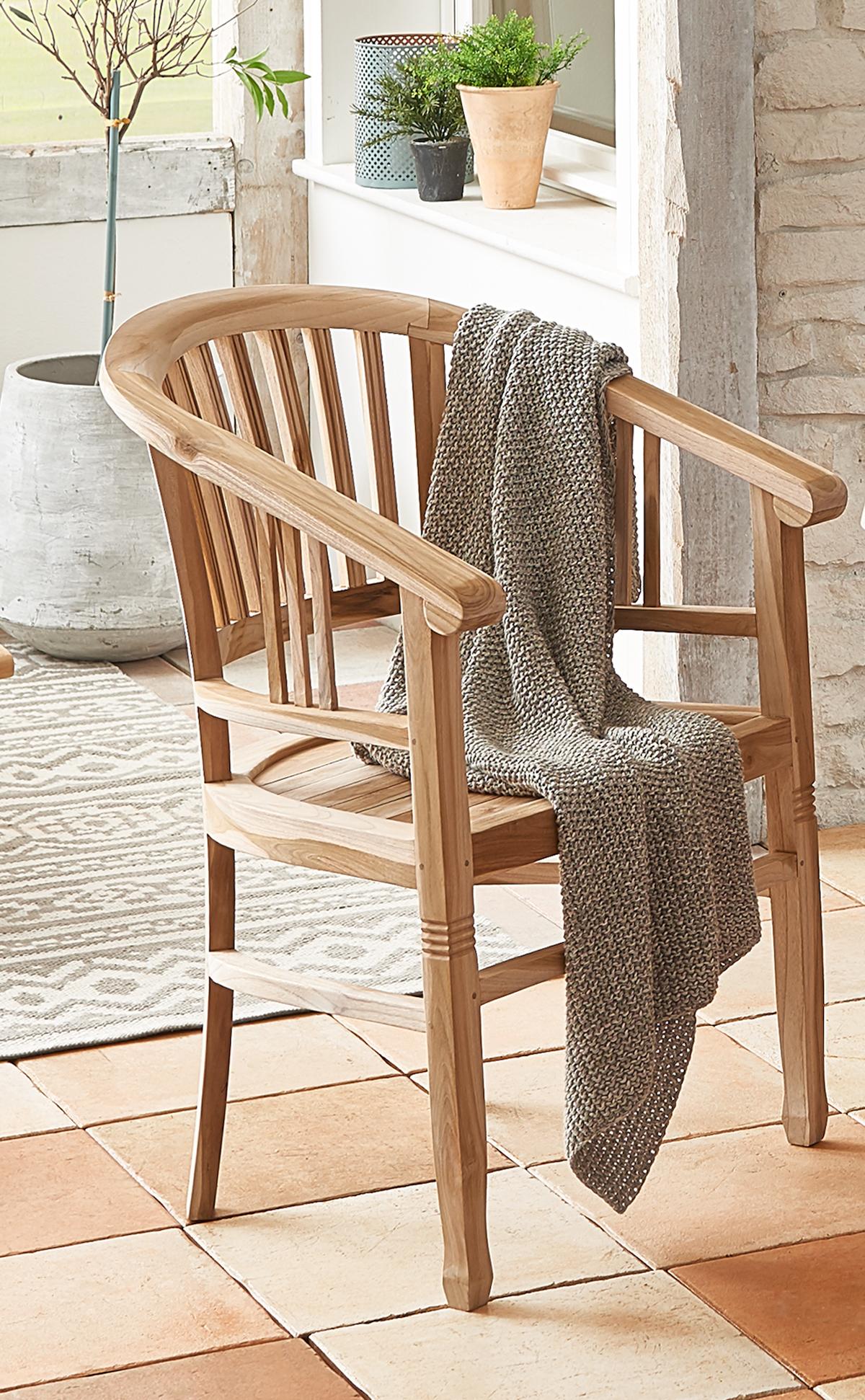 sam teak gartensessel gartenstuhl mit armlehnen moreno. Black Bedroom Furniture Sets. Home Design Ideas
