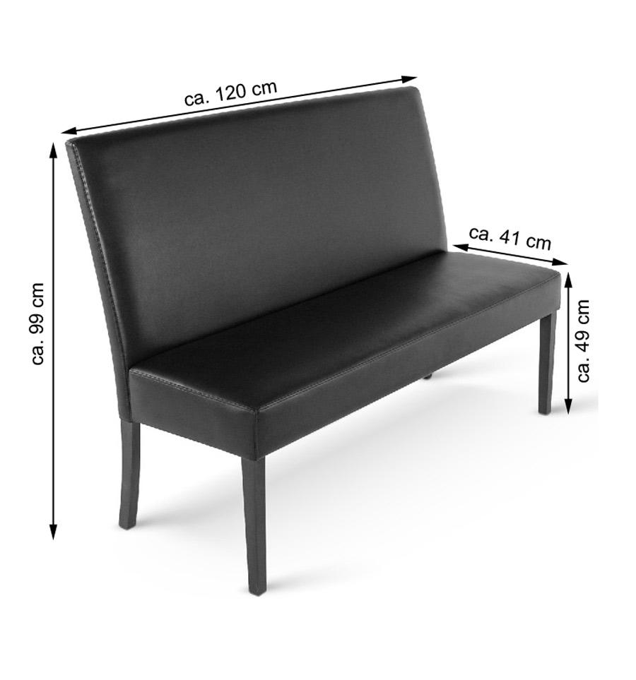 sam esszimmerbank mit lehne 120 cm braun recyceltes leder. Black Bedroom Furniture Sets. Home Design Ideas