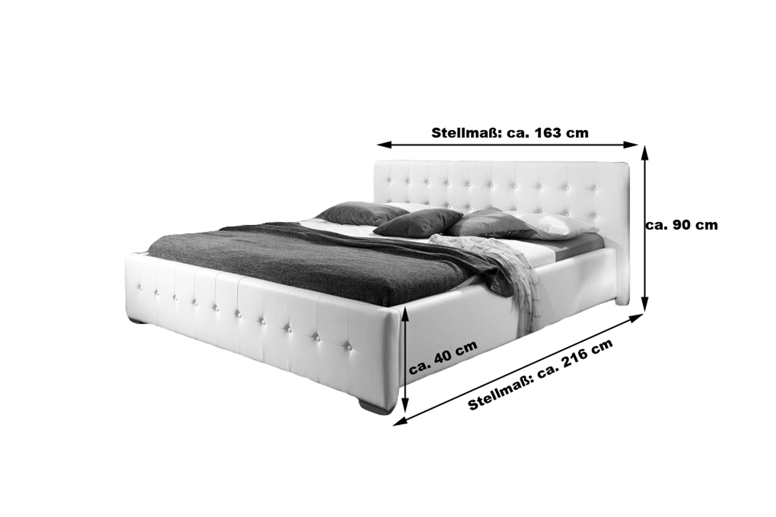 sam® polster bett 140 x 200 cm weiß rimini günstig, Hause deko