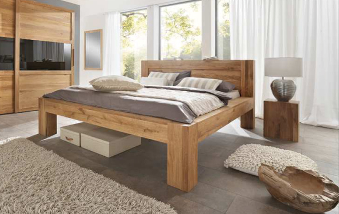 sam massivholzbett wildeiche ge lt 160 x 200 cm balder auf lager. Black Bedroom Furniture Sets. Home Design Ideas