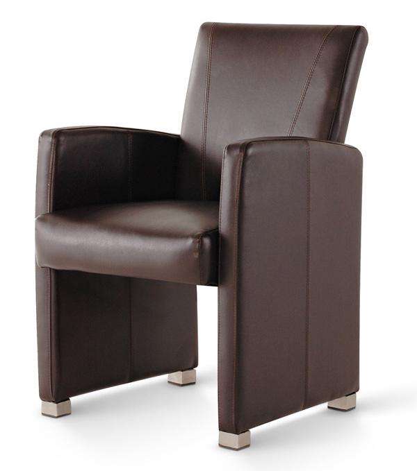 sale esszimmerstuhl sessel braun recyceltes leder malte. Black Bedroom Furniture Sets. Home Design Ideas