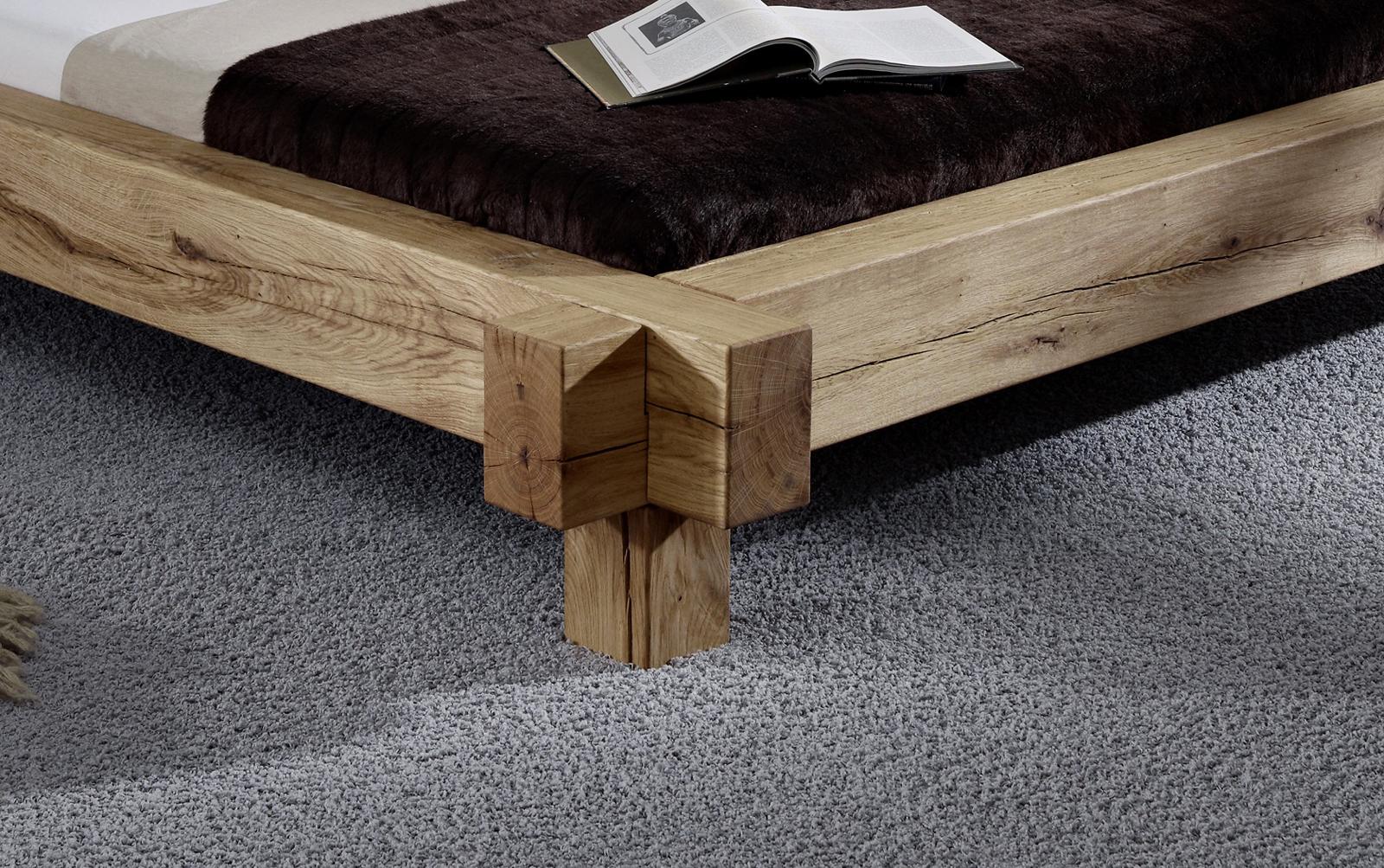 sam wildeiche baumbett 180 x 200 ge lt massiv david demn chst. Black Bedroom Furniture Sets. Home Design Ideas