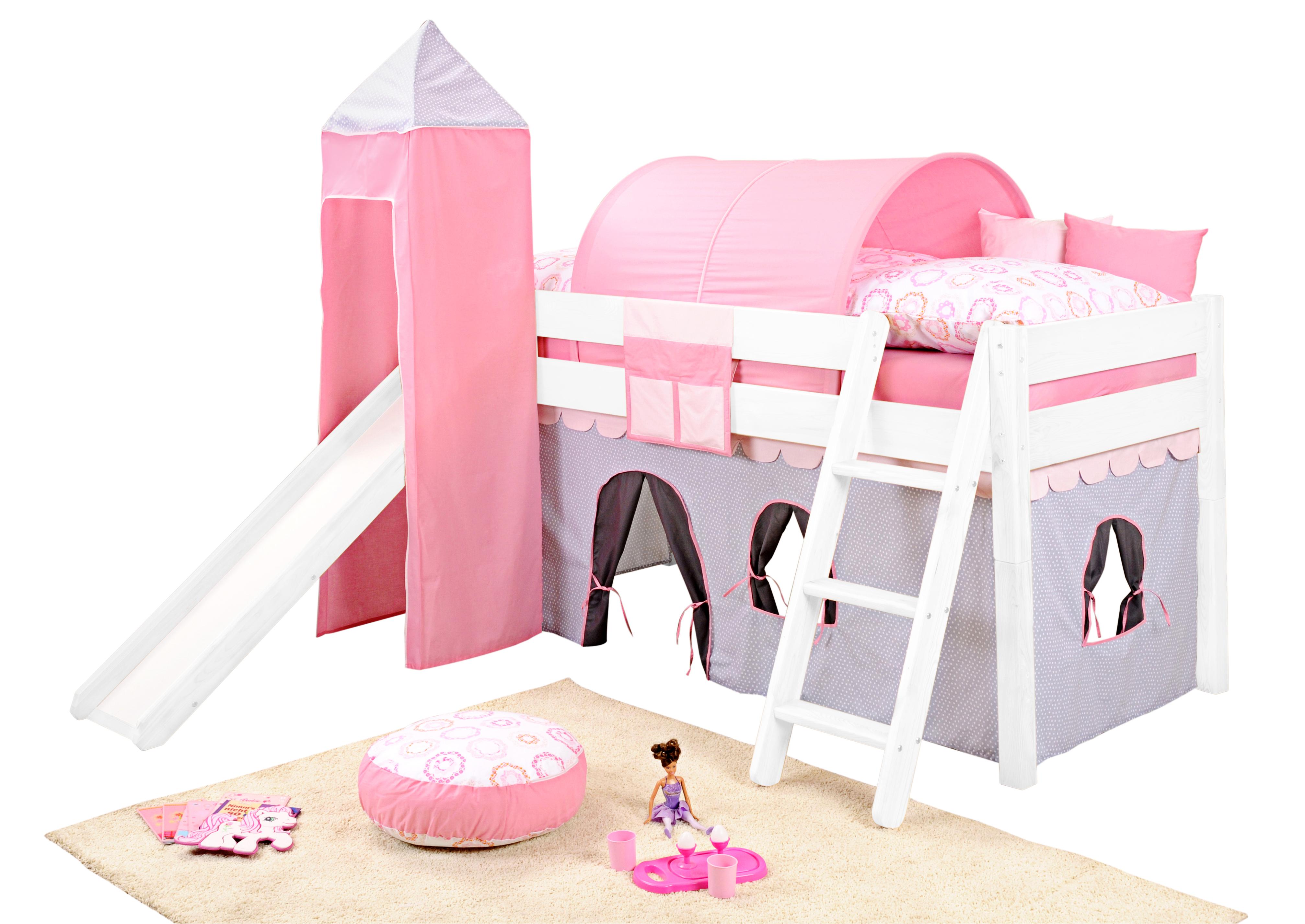 sam kinder spielbett girl ii wei schr g massivholz. Black Bedroom Furniture Sets. Home Design Ideas
