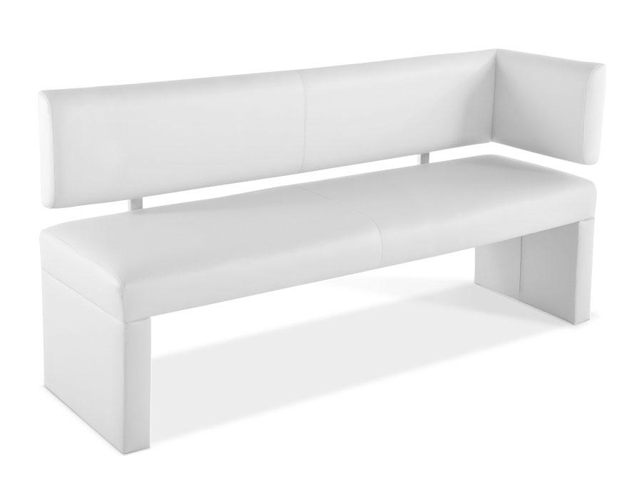 sam sitzbank ottomane 130 cm mit r ckenlehne in wei laselena. Black Bedroom Furniture Sets. Home Design Ideas