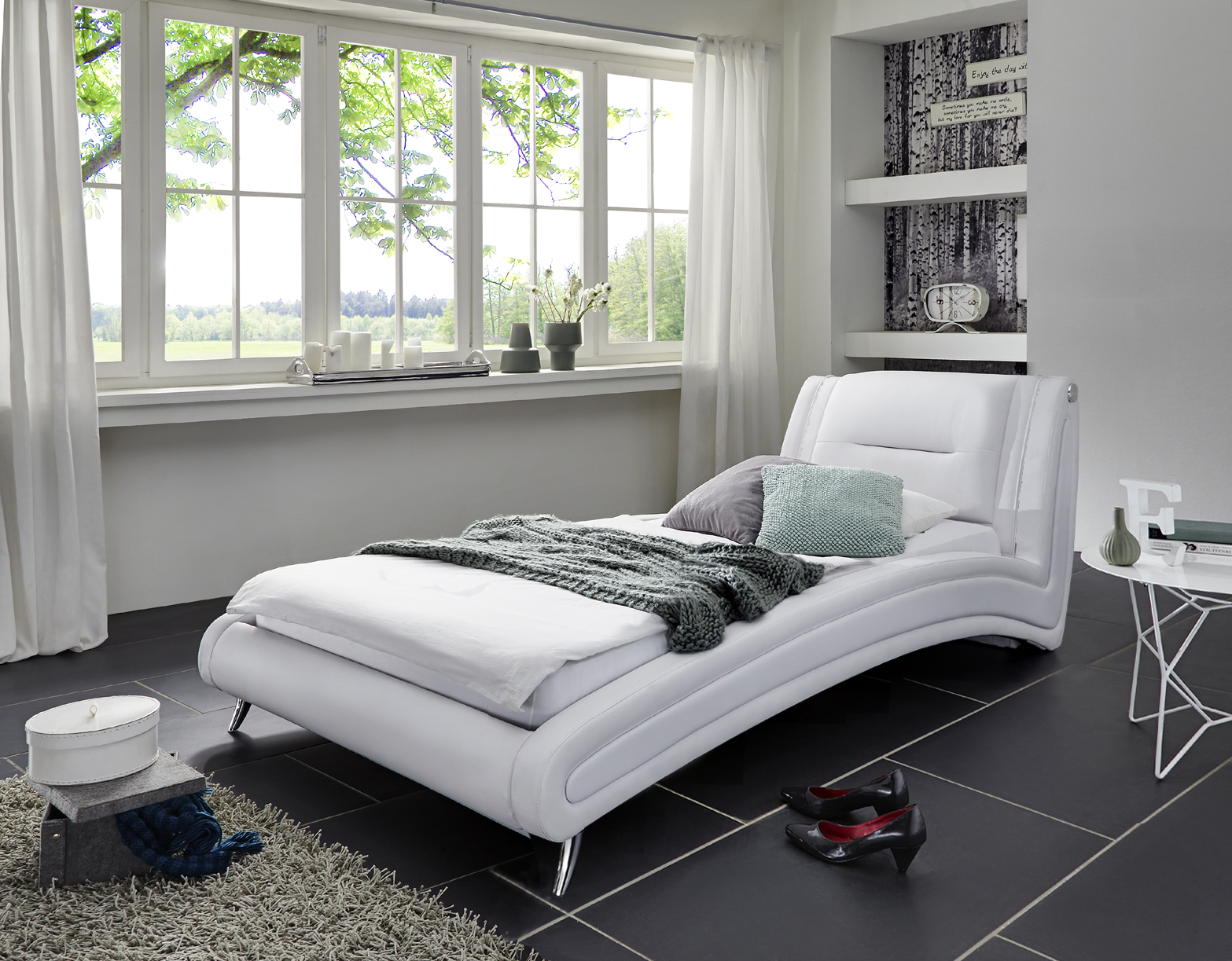 sam design bett 120 x 200 cm wei swing g nstig. Black Bedroom Furniture Sets. Home Design Ideas