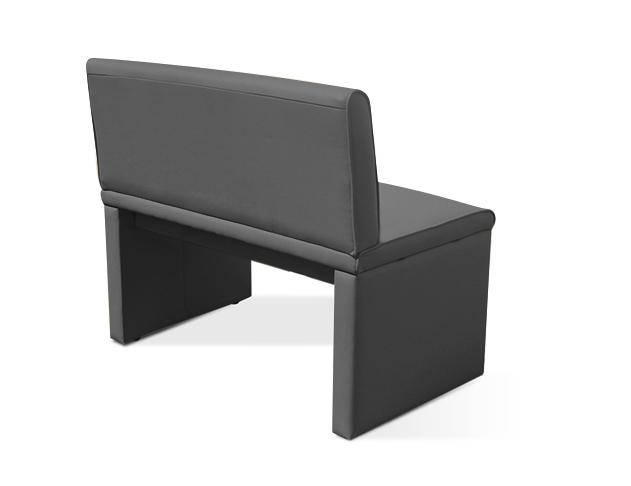 sam sitzbank mit lehne grau esszimmerbank recyceltes leder gibson. Black Bedroom Furniture Sets. Home Design Ideas