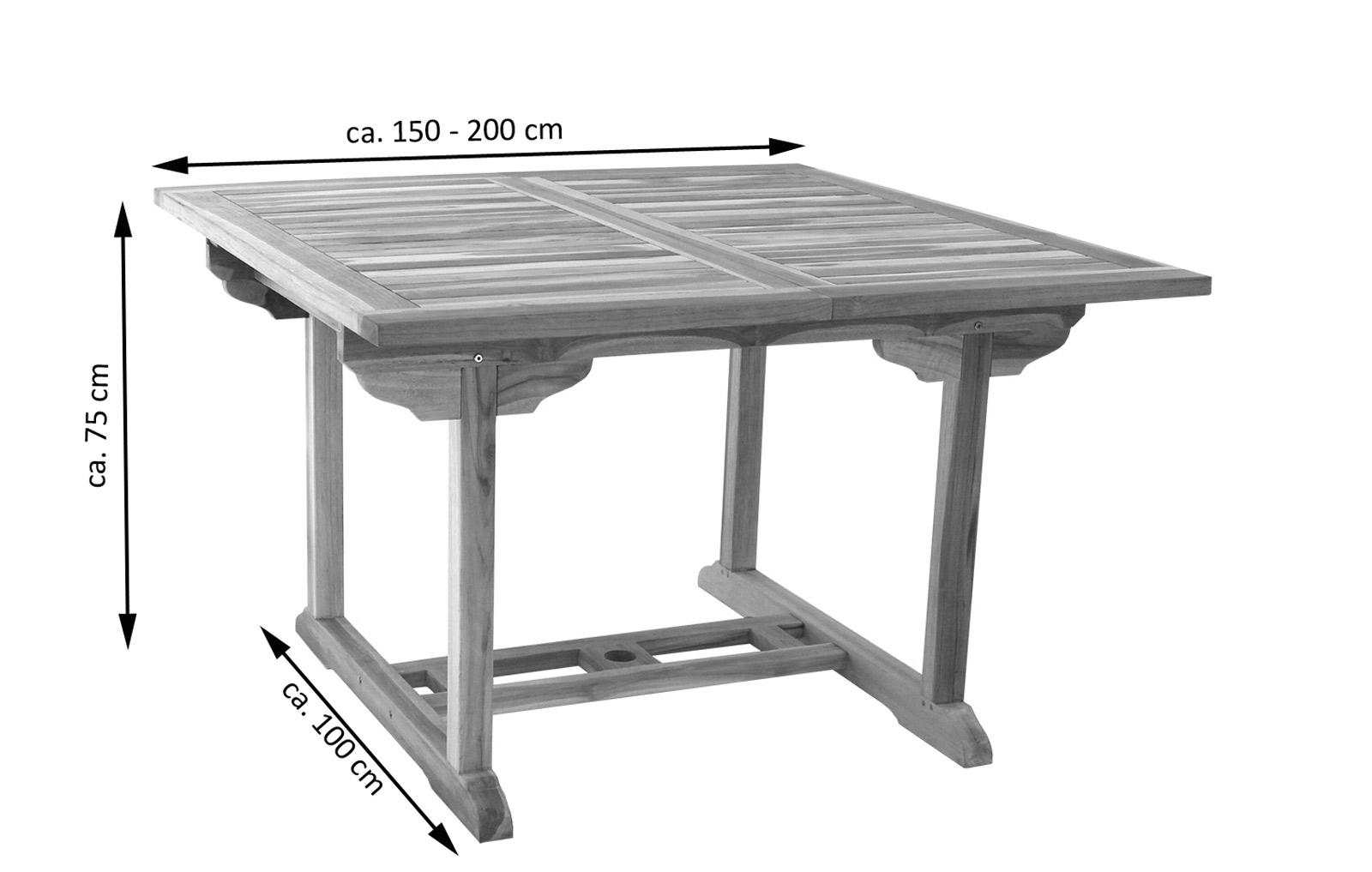SAM® Teak Gartenmöbel Set 4tlg. Eckbank Garten Tisch 150 200 Cm CA  Demnächst !