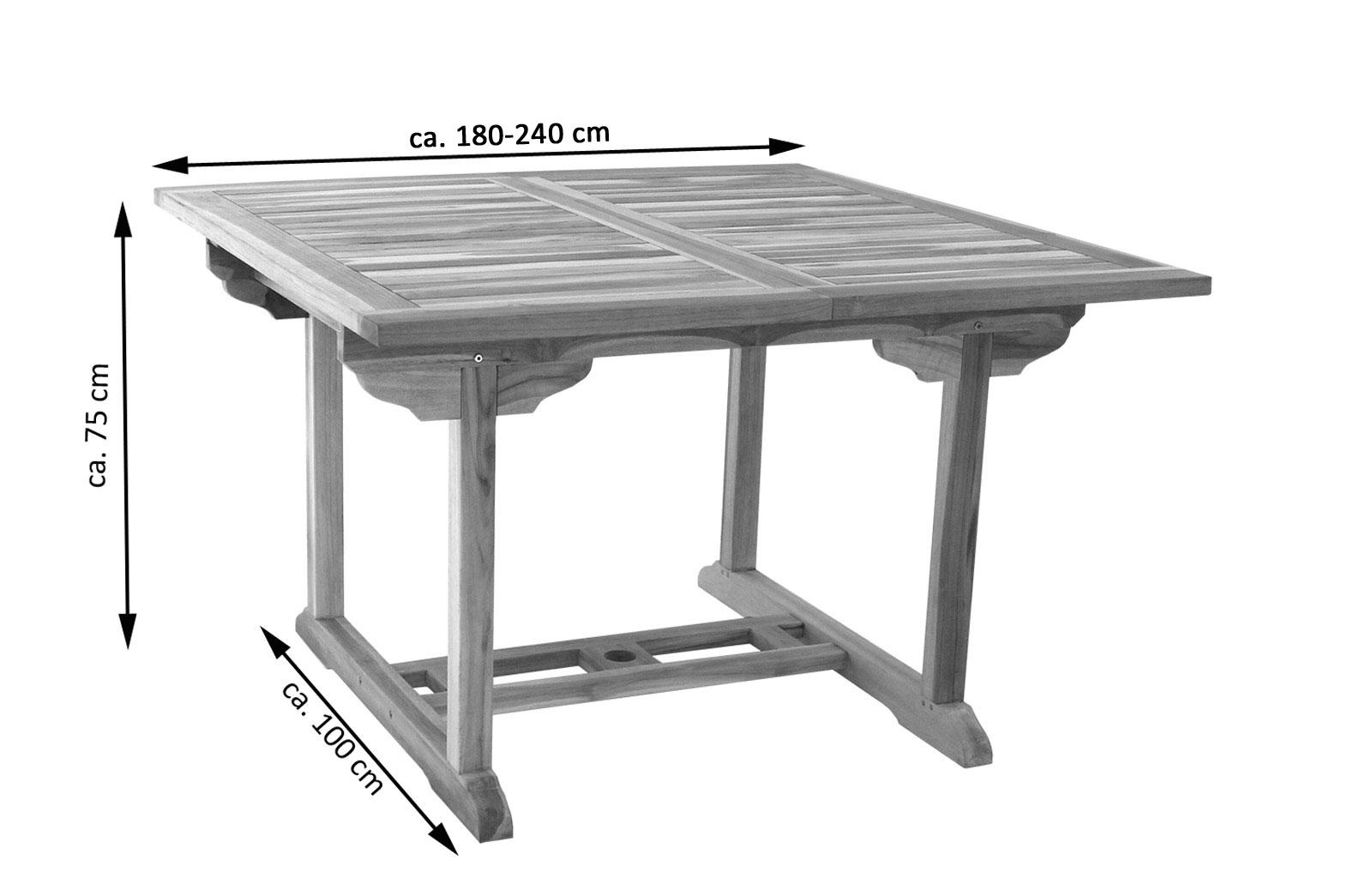 sam teak gartenm bel set 4tlg eckbank holz tisch 180 cm ka demn chst. Black Bedroom Furniture Sets. Home Design Ideas