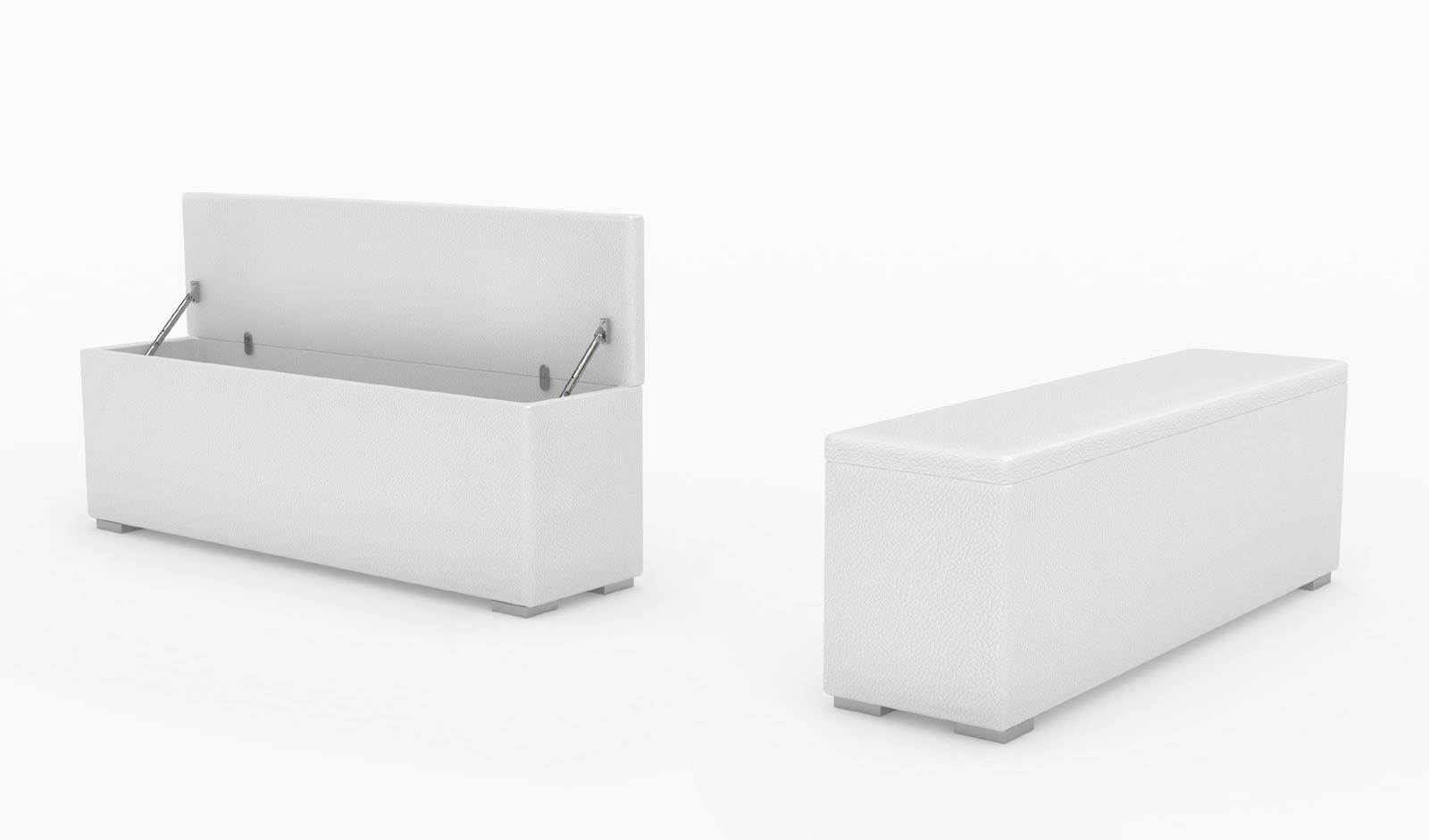 SAM® Bettbank Sitztruhe 160 x 38 cm aufklappbar weiß HEIDI Demnächst !