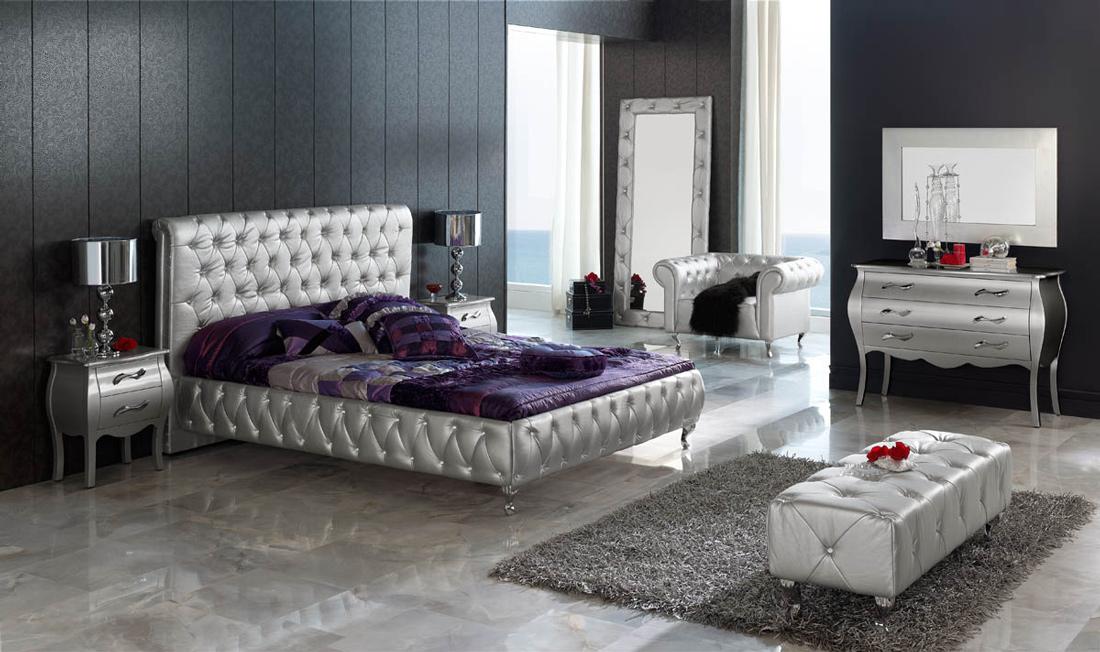 SAM® Designer Bett Lorena Silber 160 Cm Bestellware !