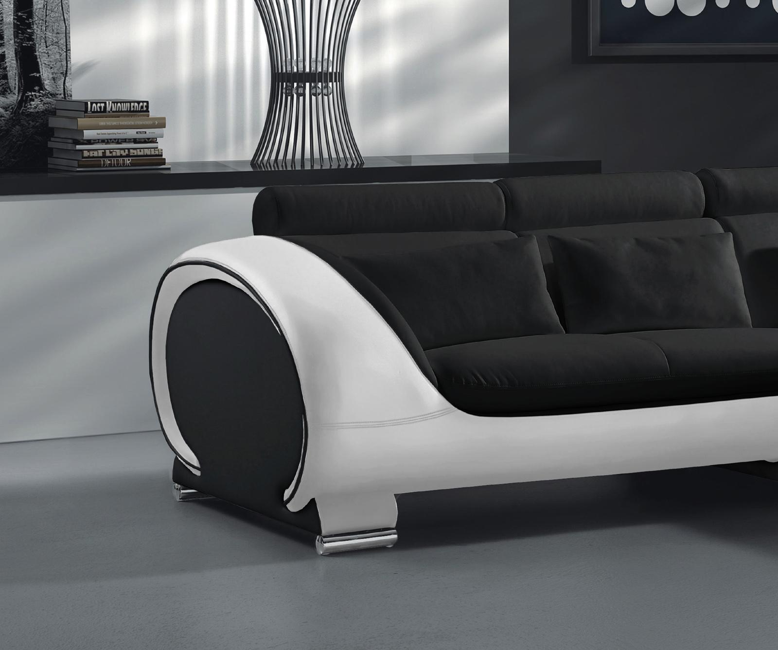 sam sofa schwarz wei vigo combi 1 couch 242 x 181 cm auf lager - Schwarz Wei Sofa