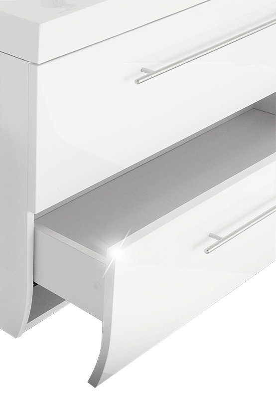 SAM® Badmöbel Set 2tlg Waschtisch 90 cm weiß Hochglanz ZÜRICH ...