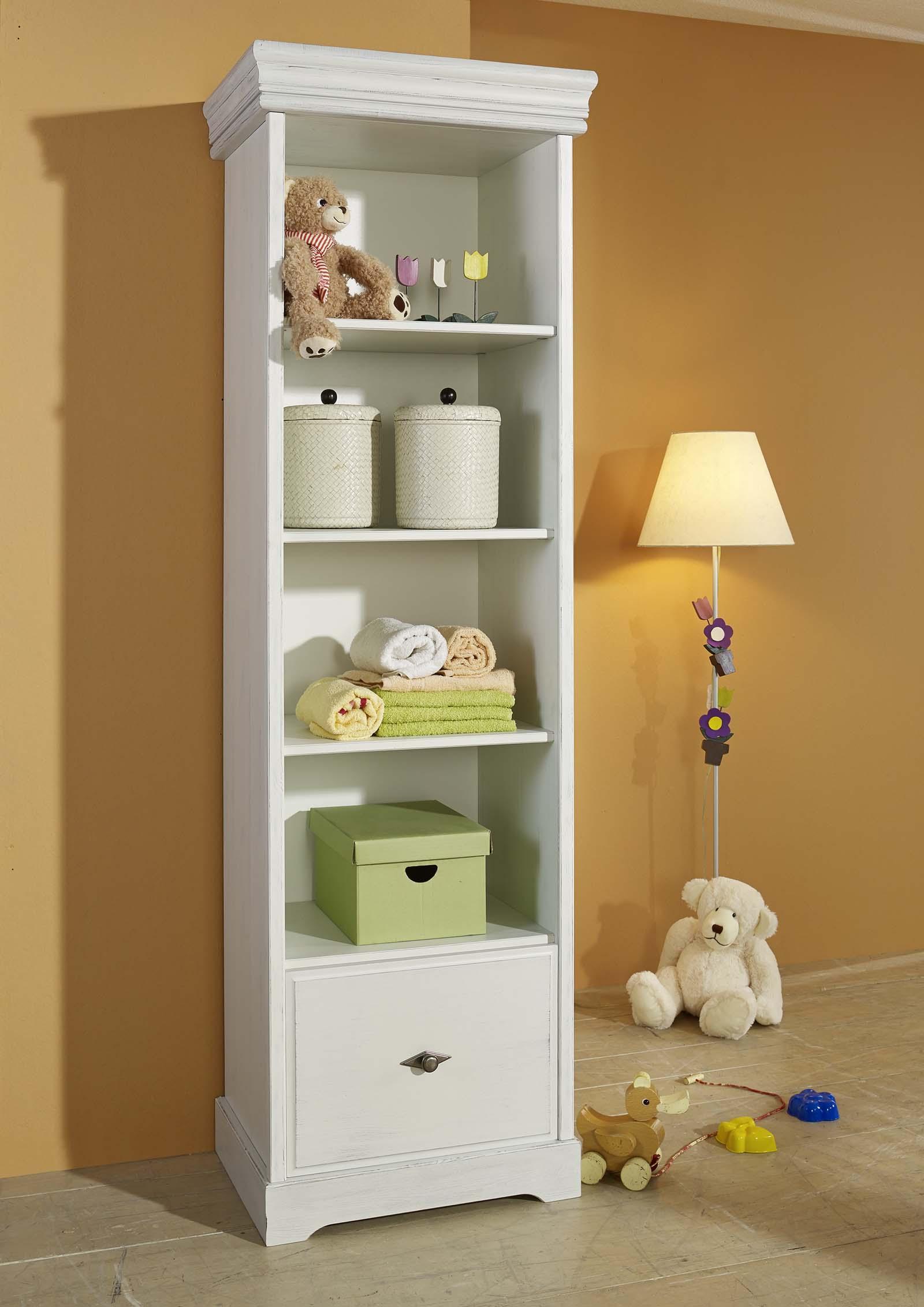 sam hohes stand regal wei kiefer massiv 200 cm marie. Black Bedroom Furniture Sets. Home Design Ideas