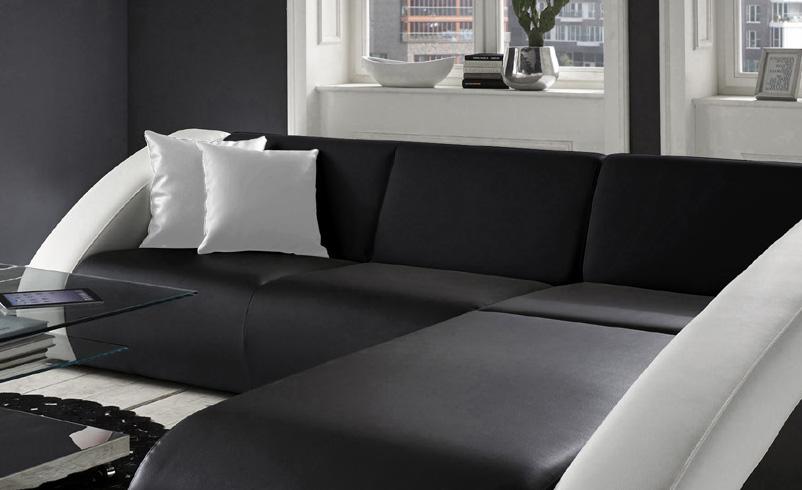 sam ecksofa schwarz wei ciao polsterecke 270 x 250 cm auf lager. Black Bedroom Furniture Sets. Home Design Ideas