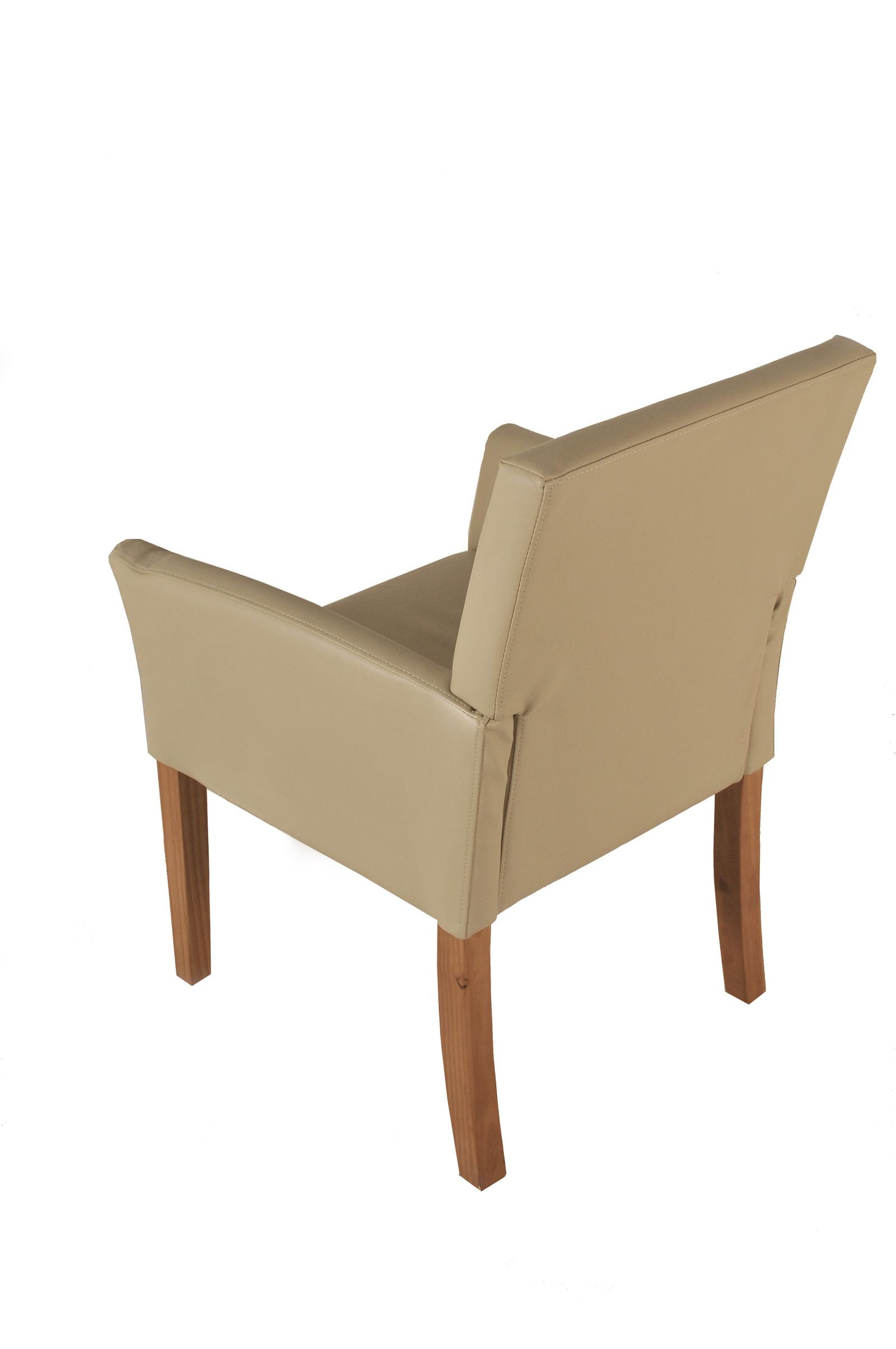 sam esszimmerstuhl armlehnstuhl creme recyceltes leder cadeo. Black Bedroom Furniture Sets. Home Design Ideas