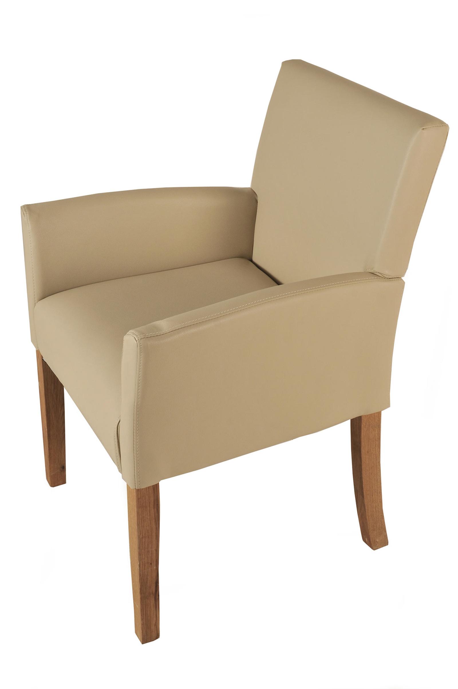 sam esszimmerstuhl armlehnstuhl creme recyceltes leder. Black Bedroom Furniture Sets. Home Design Ideas