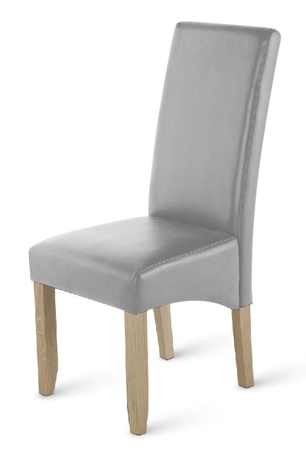 sale esszimmerstuhl stuhl grau recyceltes leder leon. Black Bedroom Furniture Sets. Home Design Ideas