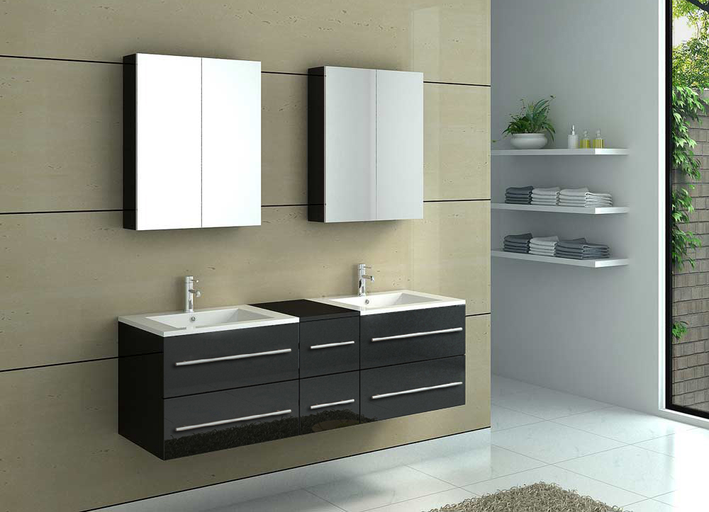 sam badm bel barca neu 5tlg 150 cm spiegelschrank schwarz. Black Bedroom Furniture Sets. Home Design Ideas