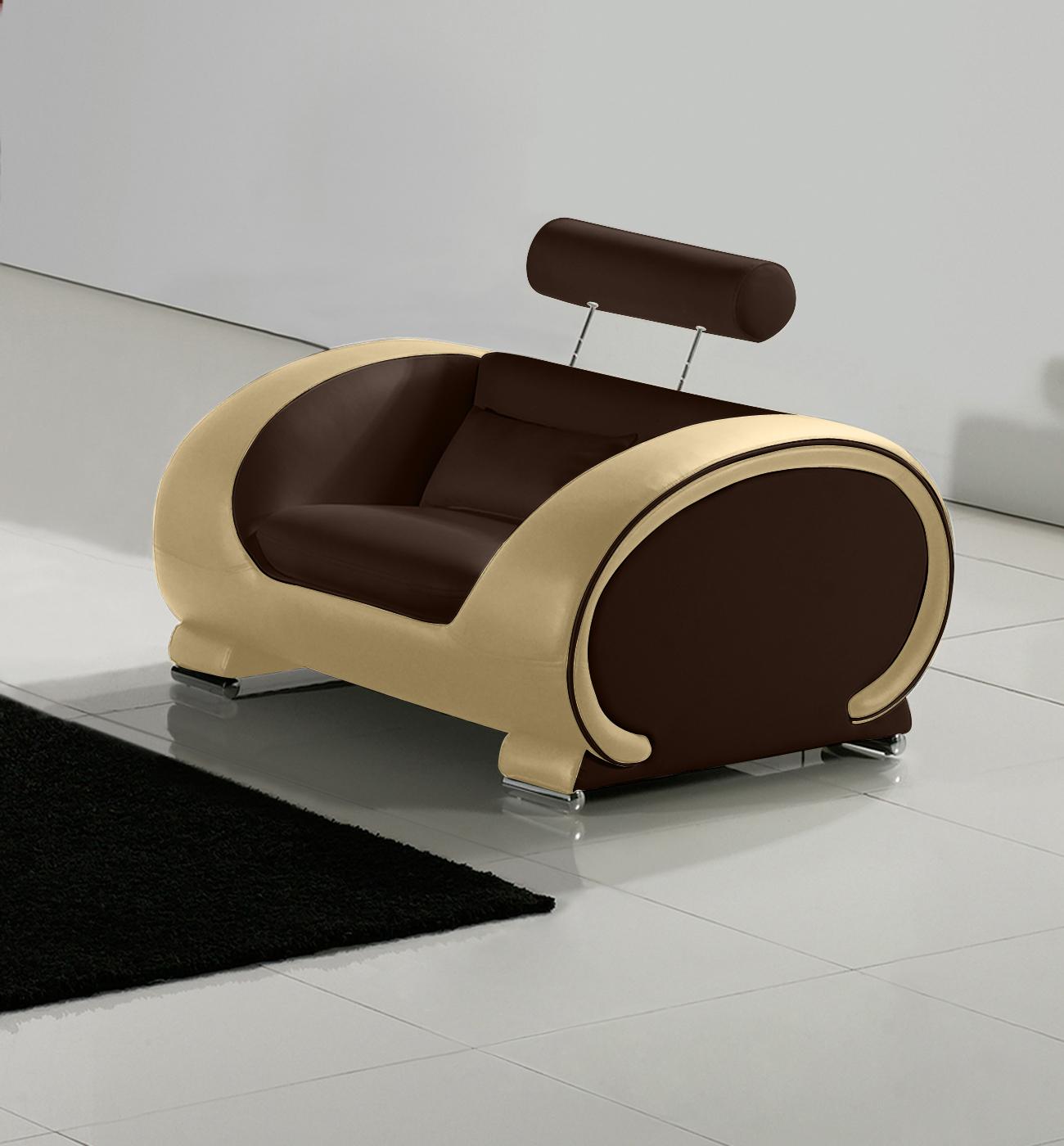 wohnzimmer braun creme:SAM® Design Wohnzimmer Sessel 108 cm braun / creme Vigo Auf Lager