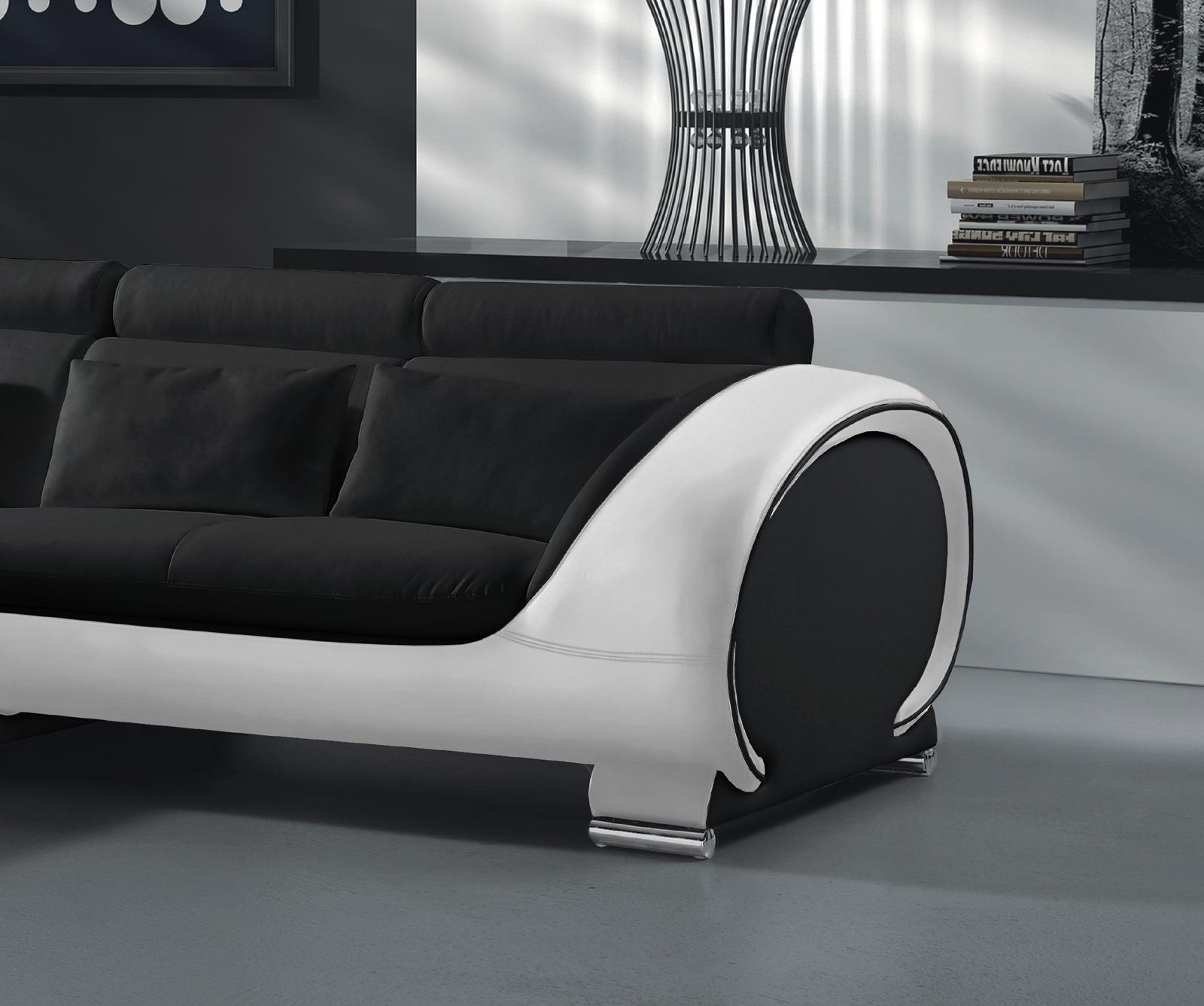 sam sofa schwarz wei vigo combi 1 couch 181 x 242 cm auf lager. Black Bedroom Furniture Sets. Home Design Ideas