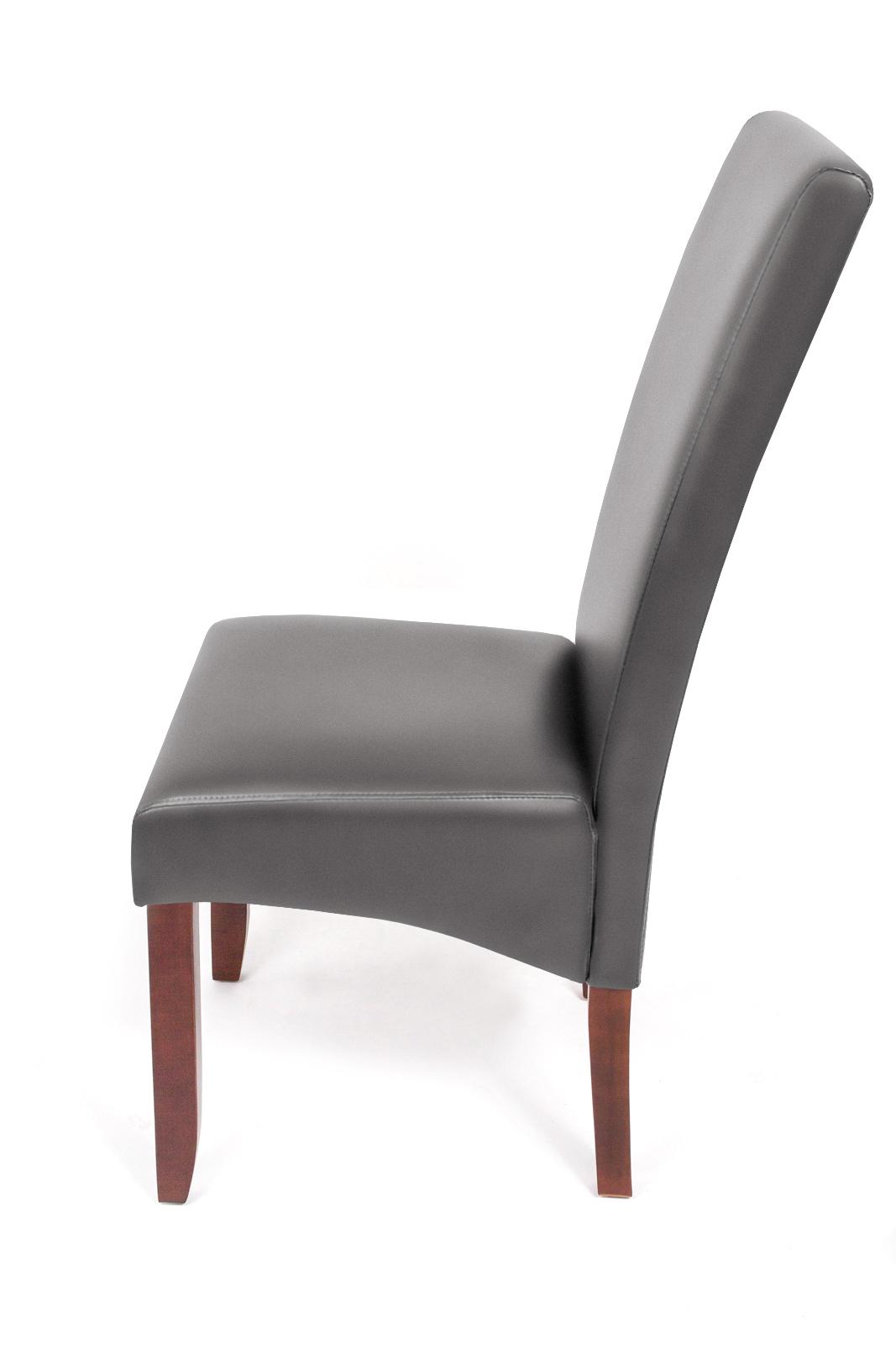 sam esszimmerstuhl stuhl grau recyceltes leder miriam. Black Bedroom Furniture Sets. Home Design Ideas