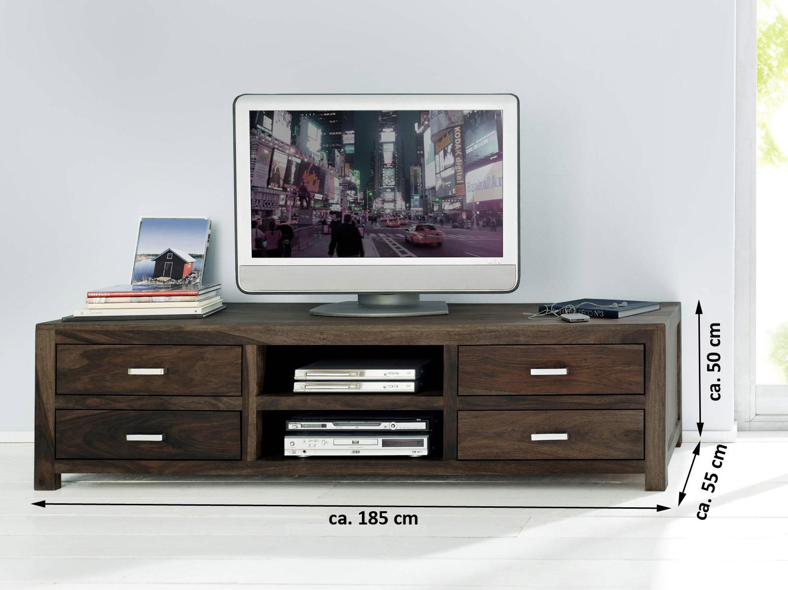 sale lowboard tv board 185x55 cm massivholz sheesham stone wiam 1521. Black Bedroom Furniture Sets. Home Design Ideas