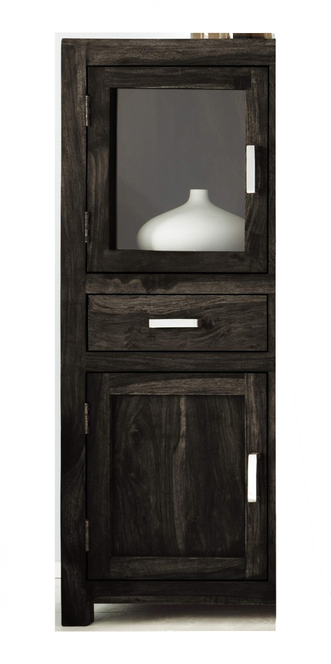 Sam highboard kommode 130 cm massiv sheesham stone wiam 1508 for Kommode 130 cm