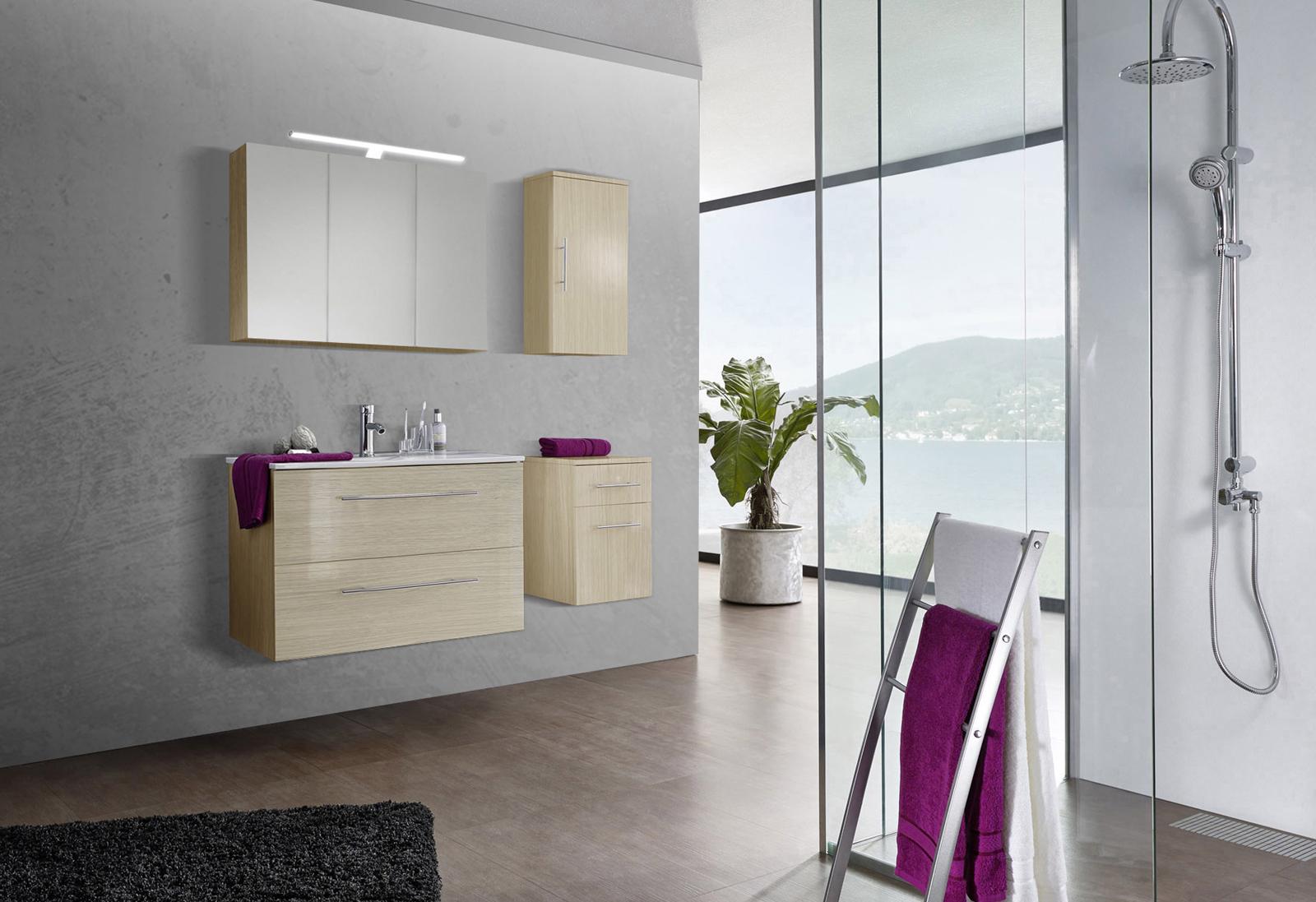 sam 4tlg badezimmer set sonomaeiche 90 cm verena demn chst. Black Bedroom Furniture Sets. Home Design Ideas