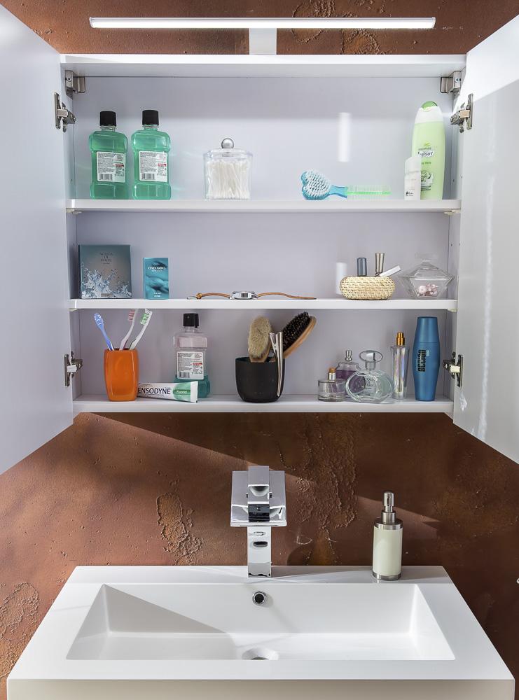 sam 4tlg badezimmer set spiegelschrank wei 80 cm lunar. Black Bedroom Furniture Sets. Home Design Ideas