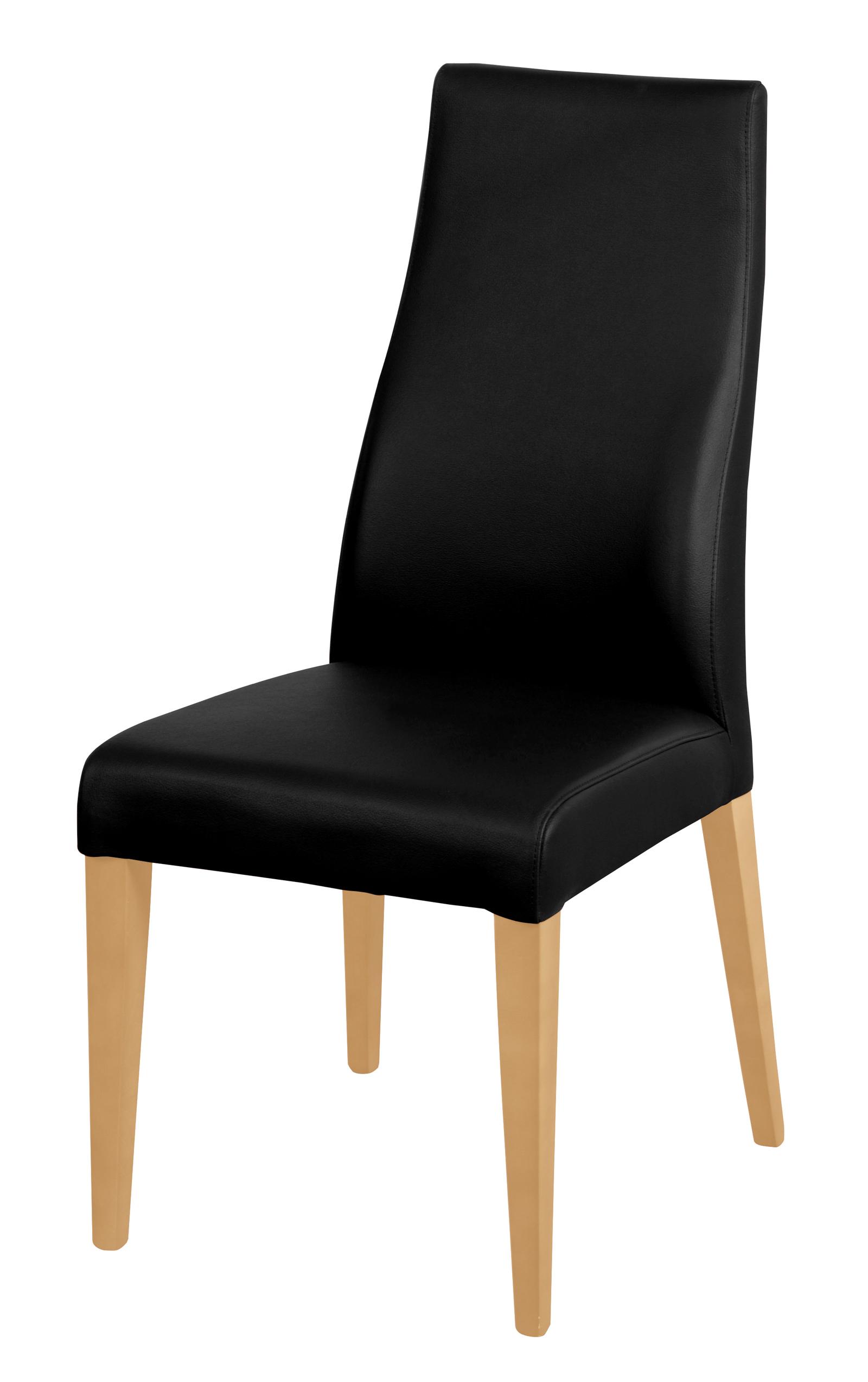sam stuhl echtleder schwarz buche dickes leder bj rn auf lager. Black Bedroom Furniture Sets. Home Design Ideas