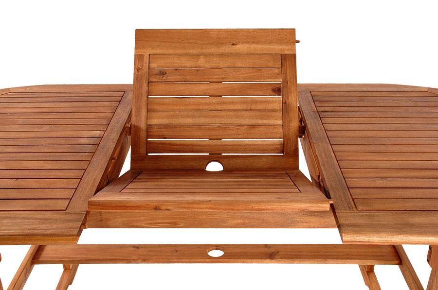 Gartentisch Holz Ausziehbar 90 Cm ~ SAM® Akazie Gartentisch ausziehbar 150 x 75 cm France Auf Lager