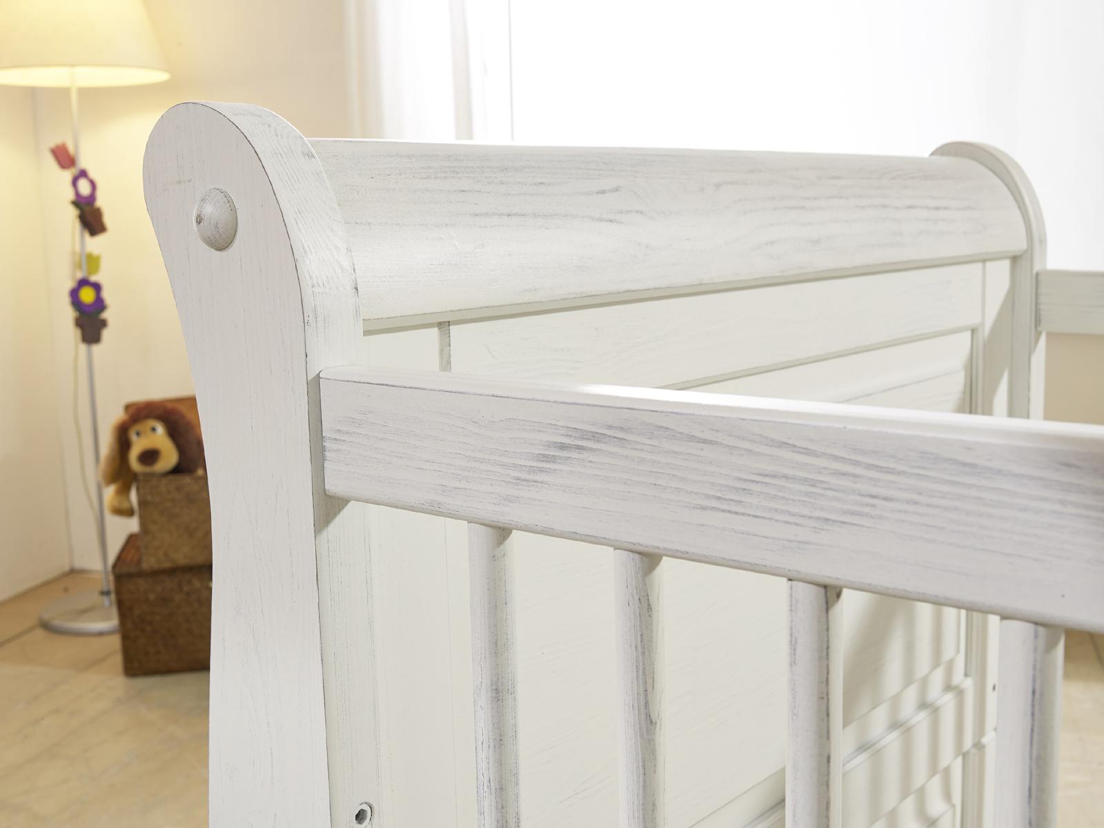 sam babybett in wei kiefer massiv 70 x 140 cm marie auf. Black Bedroom Furniture Sets. Home Design Ideas