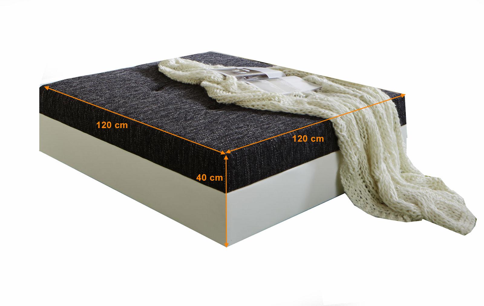 SAMR Wohnzimmer Design Hocker 120 Cm Schwarz Weiss Giga Bestellware Itemprop