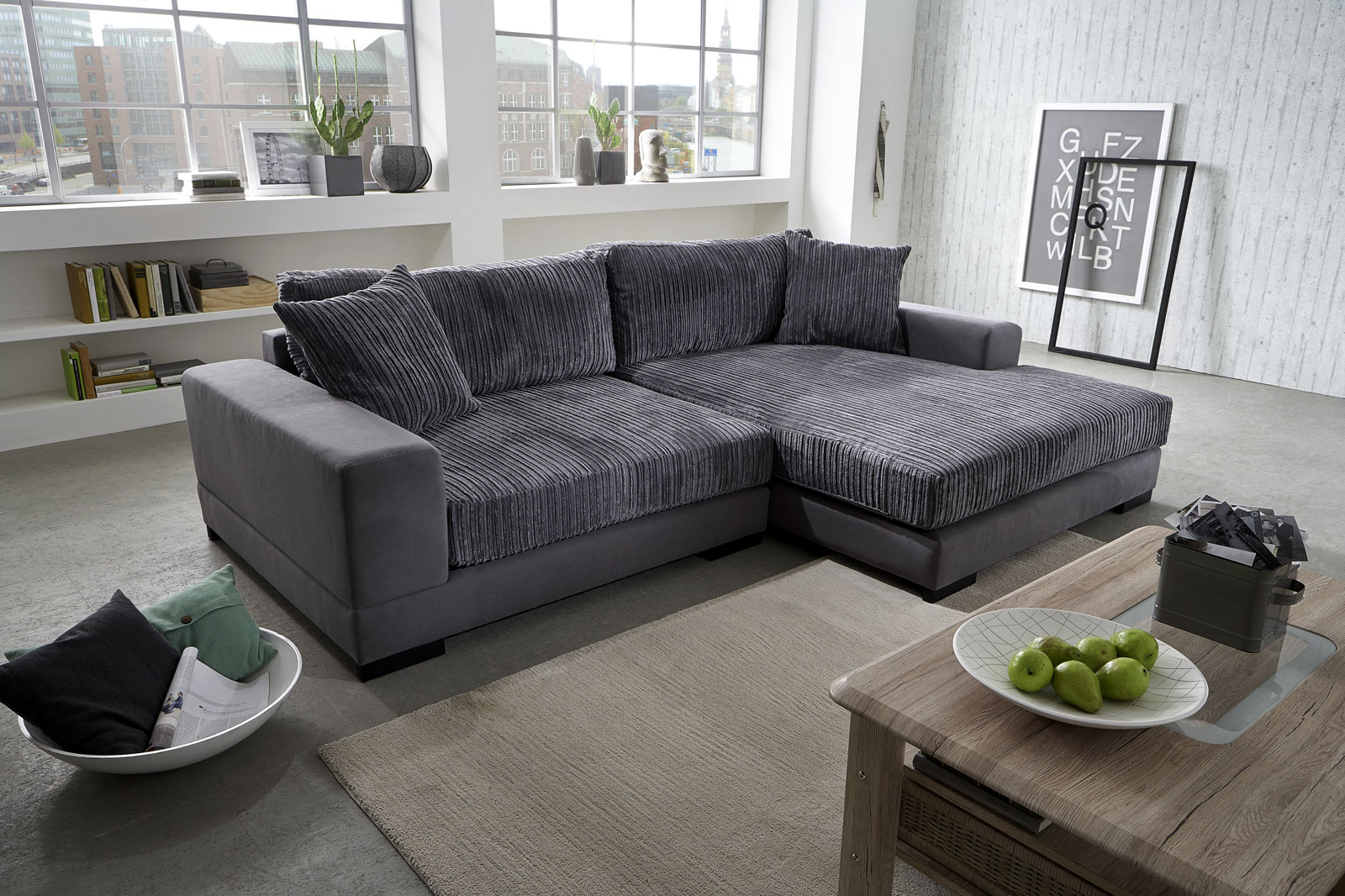 Sam ecksofa grau jan polsterecke 275 x 160 cm for Ecksofa trends