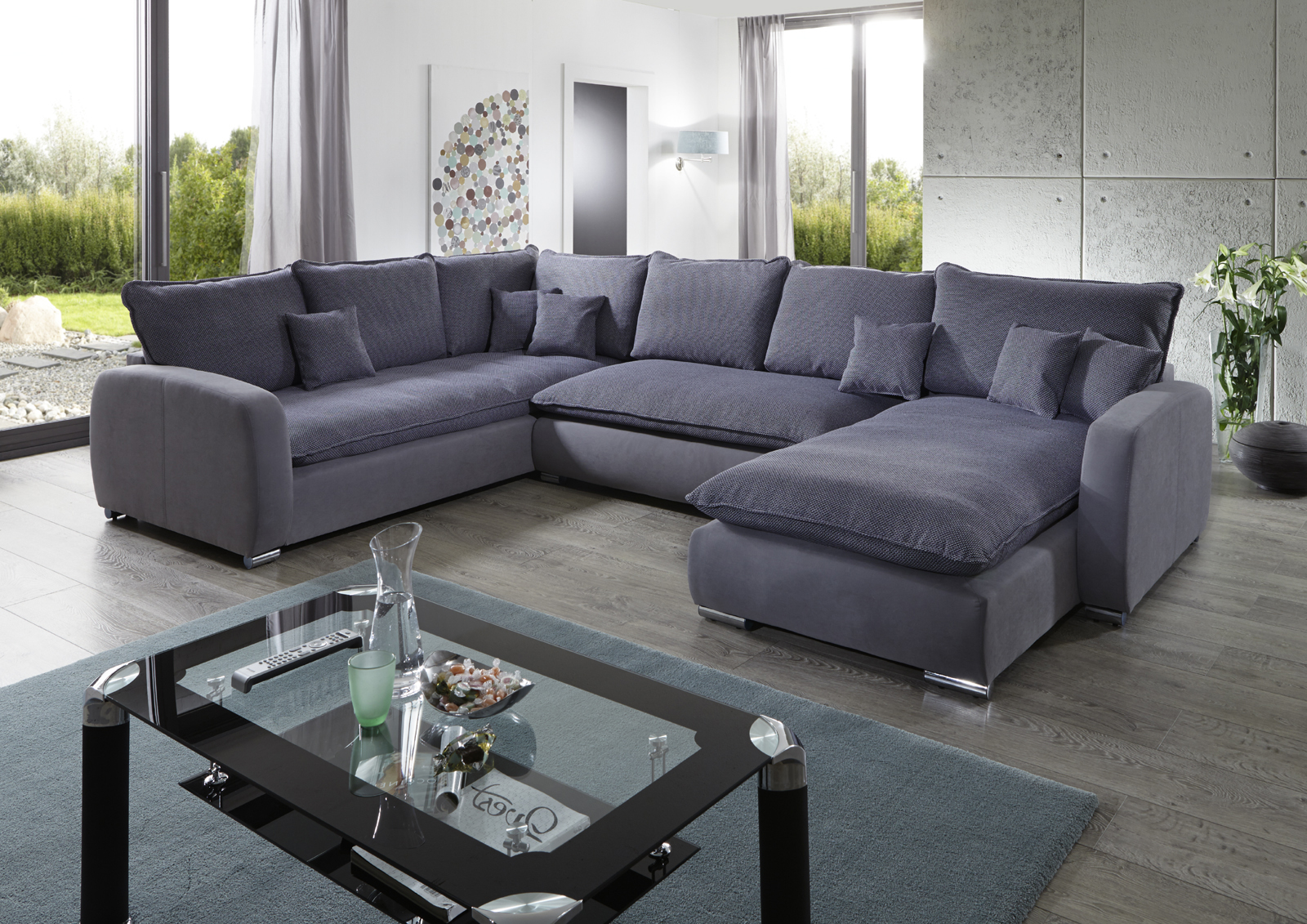 Sam sofa grau wohnlandschaft scala 230 cm x 350 x 180 cm for Wohnlandschaft finanzieren