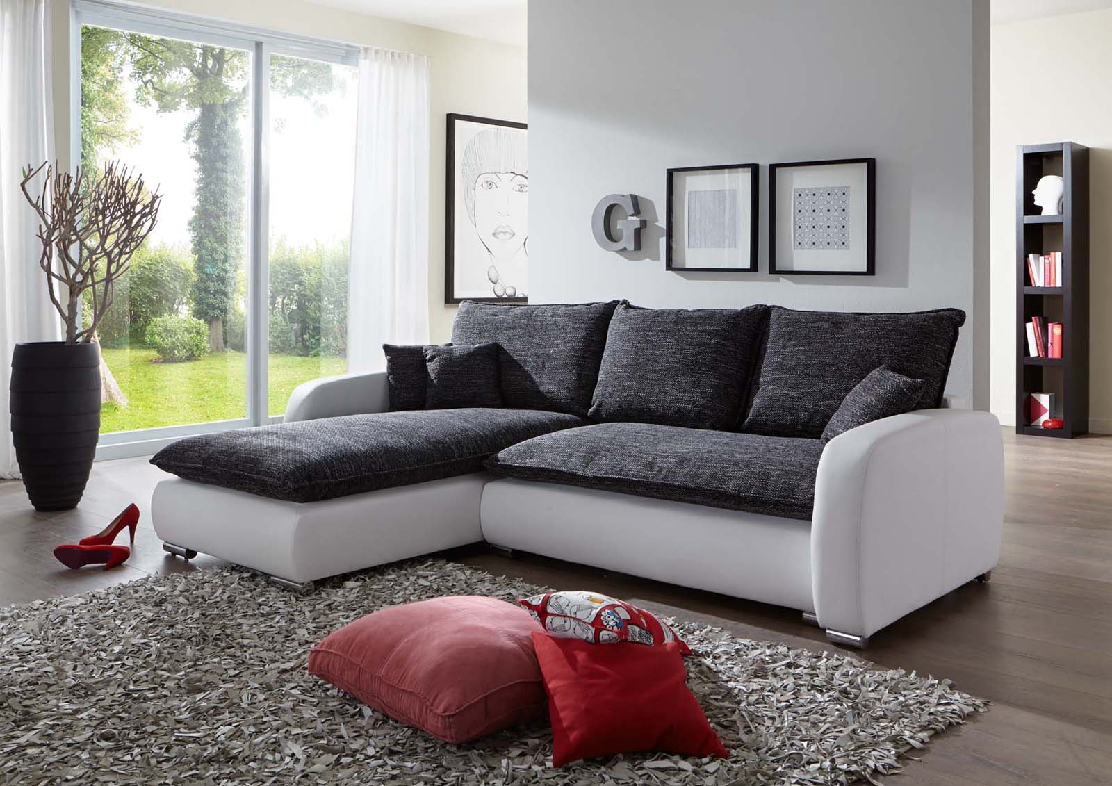 sam ecksofa grau wei scala 24 sofa 180 x 260 cm. Black Bedroom Furniture Sets. Home Design Ideas