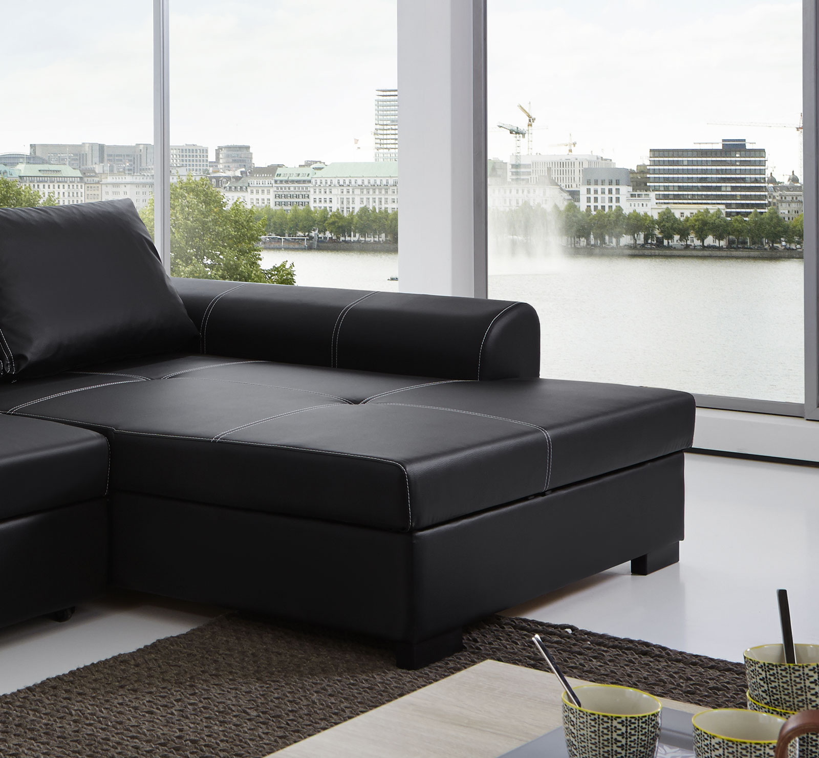 ecksofa schwarz perfect ecksofa husse sch n sofa f r home home sofahusse ecksofa schwarz with. Black Bedroom Furniture Sets. Home Design Ideas