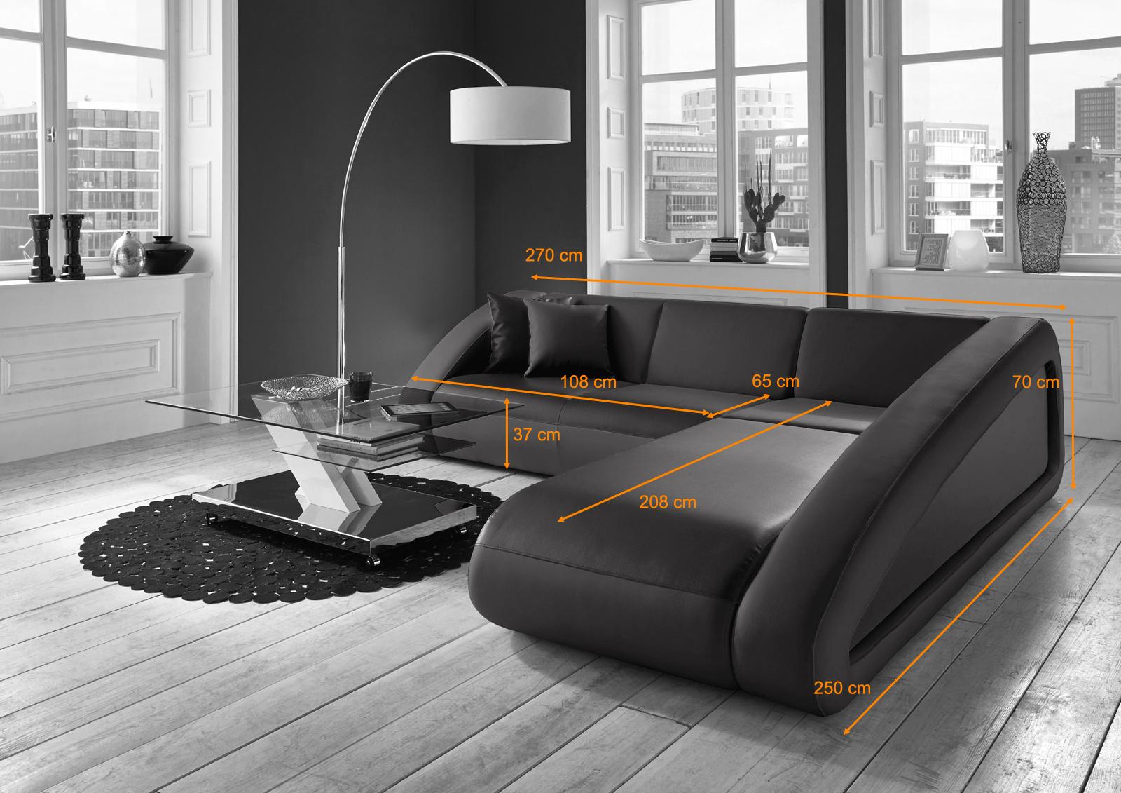Design ecksofa  SAM® Design Ecksofa Farbauswahl CIAO 270 x 250 cm