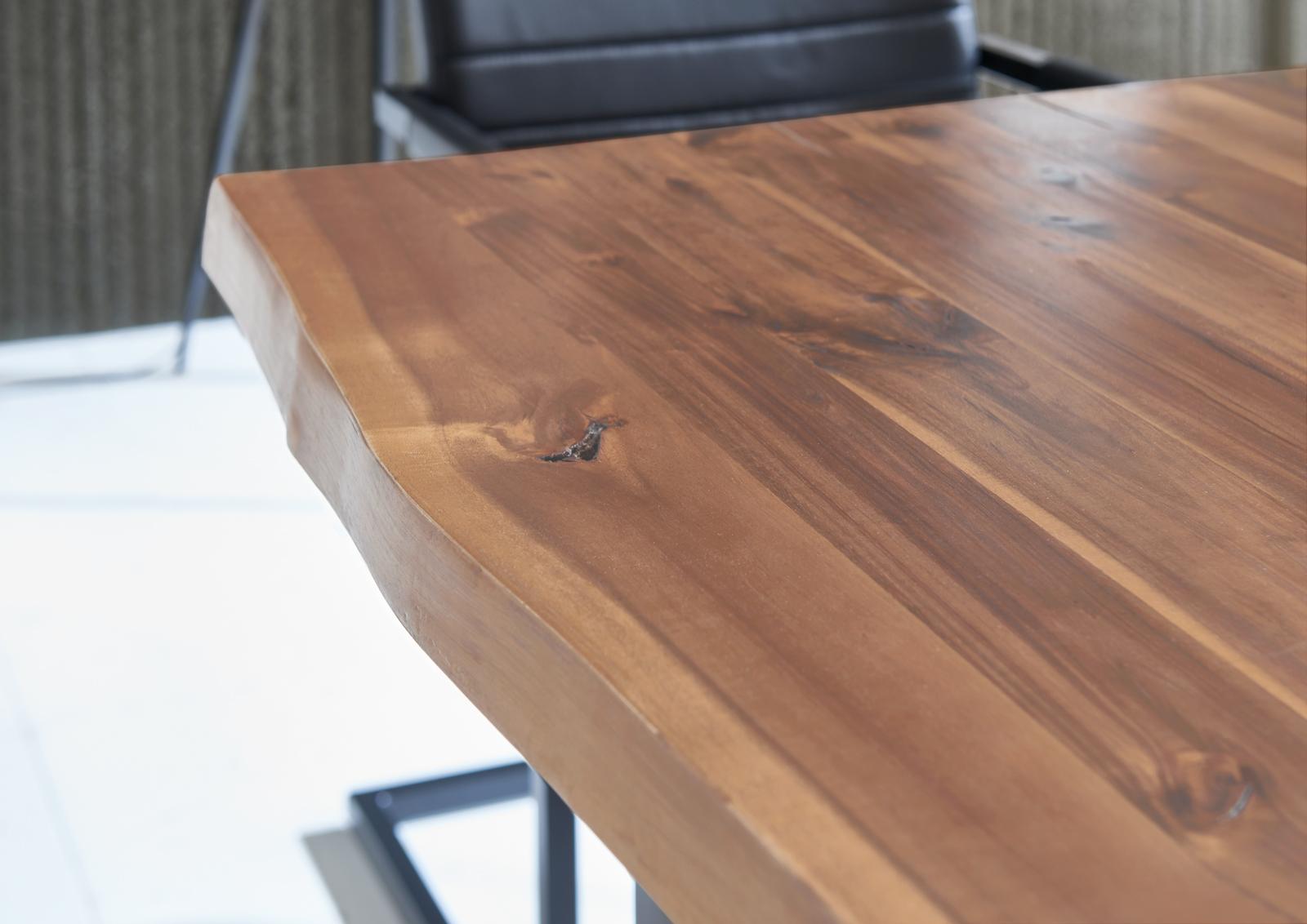 Sam baumkantentisch esszimmer tisch 180 cm massiv akazie for Tisch esszimmer
