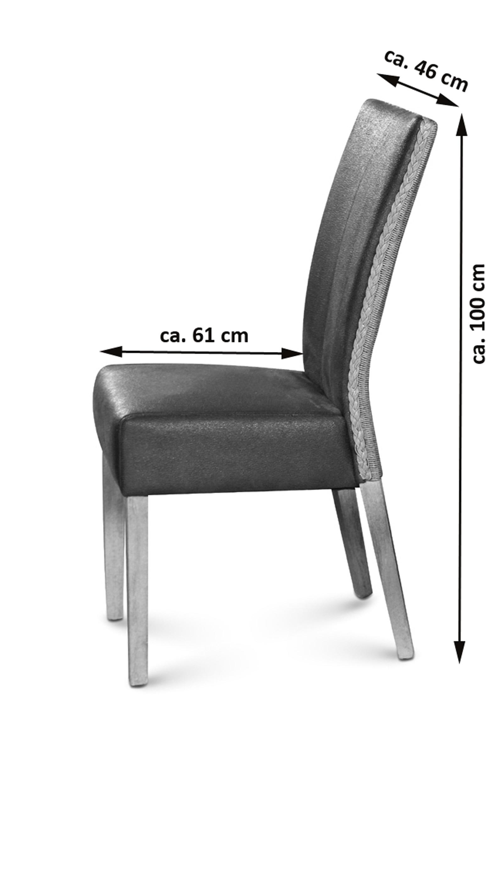 sam esszimmerstuhl braun mit stoffbezug in wildlederoptik madrid. Black Bedroom Furniture Sets. Home Design Ideas