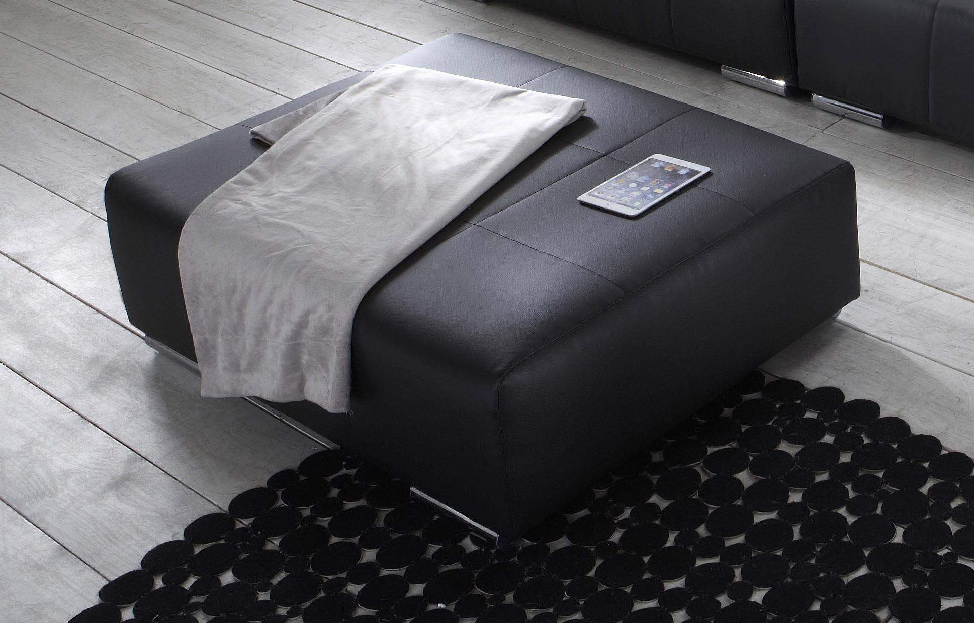sam wohnzimmer design hocker 110 cm schwarz jupiter