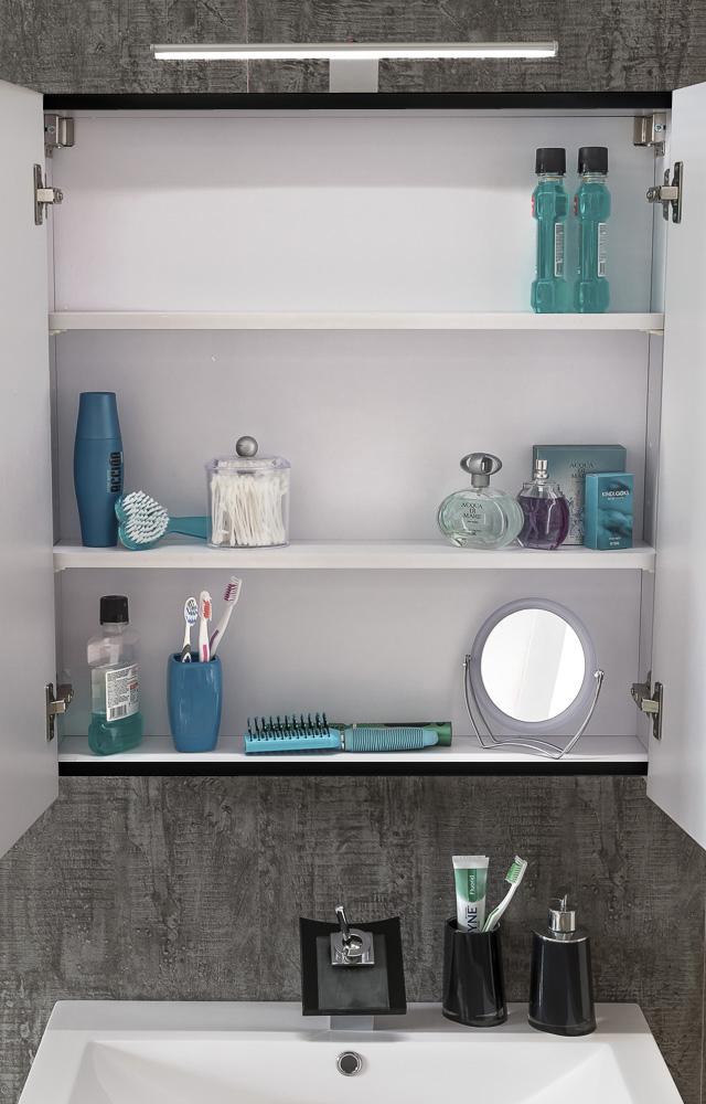 sam badm bel set 4tlg waschtisch 80 cm hochglanz grau parma. Black Bedroom Furniture Sets. Home Design Ideas