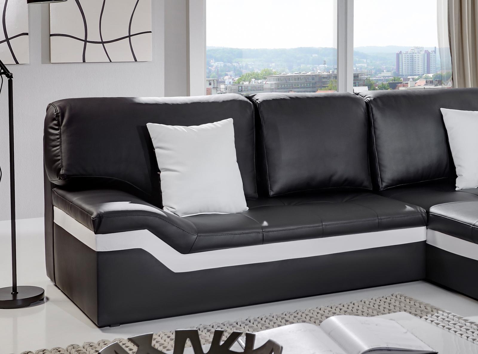 Entzückend Ecksofa Wohnlandschaft Galerie Von Sam® 270 X 220 Cm Schwarz/weiß Sofa