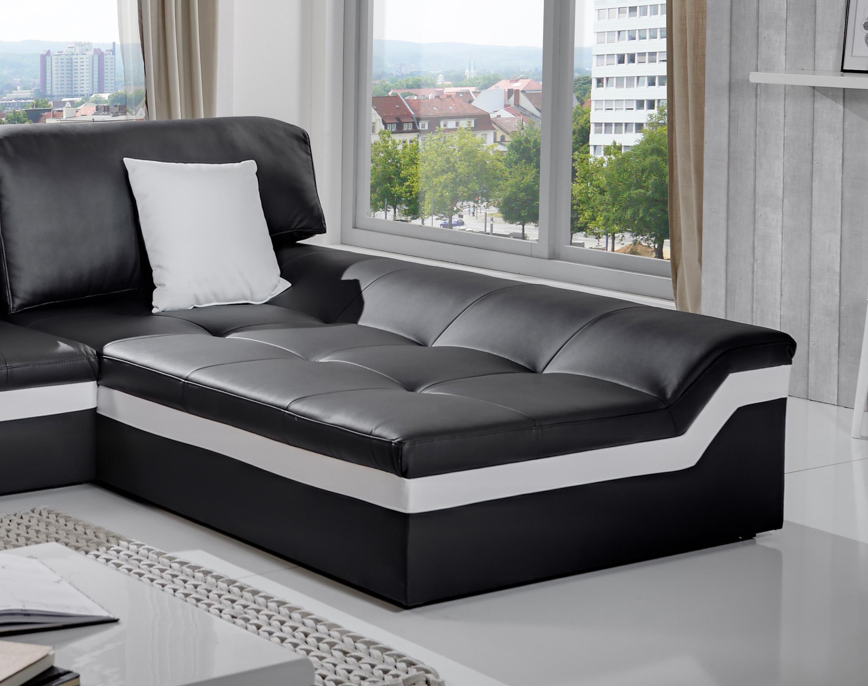 Sam ecksofa wohnlandschaft 270 x 220 cm schwarz wei sofa for Sam wohnlandschaft