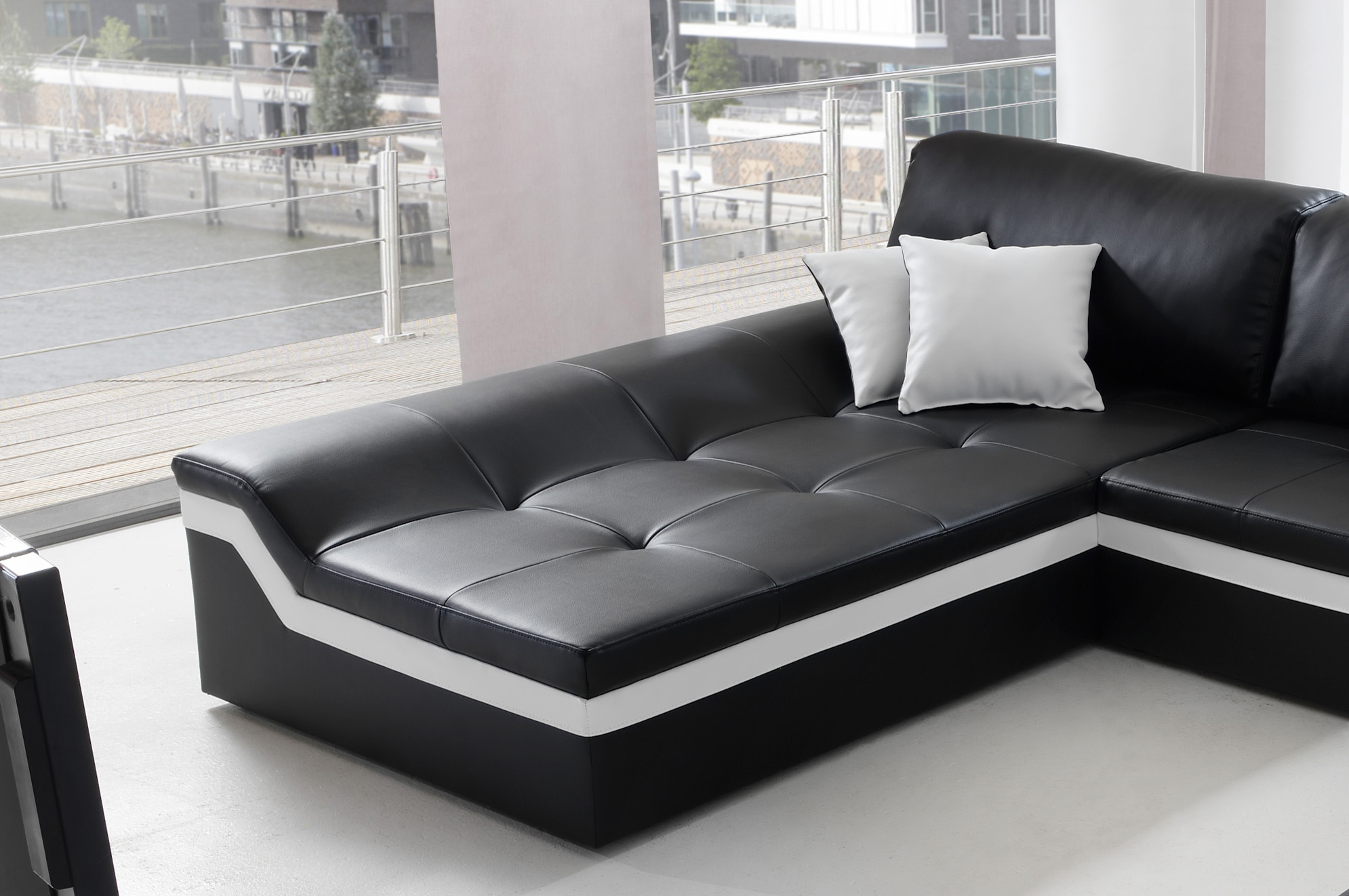 wohnlandschaft schwarz bestseller shop f r m bel und einrichtungen. Black Bedroom Furniture Sets. Home Design Ideas