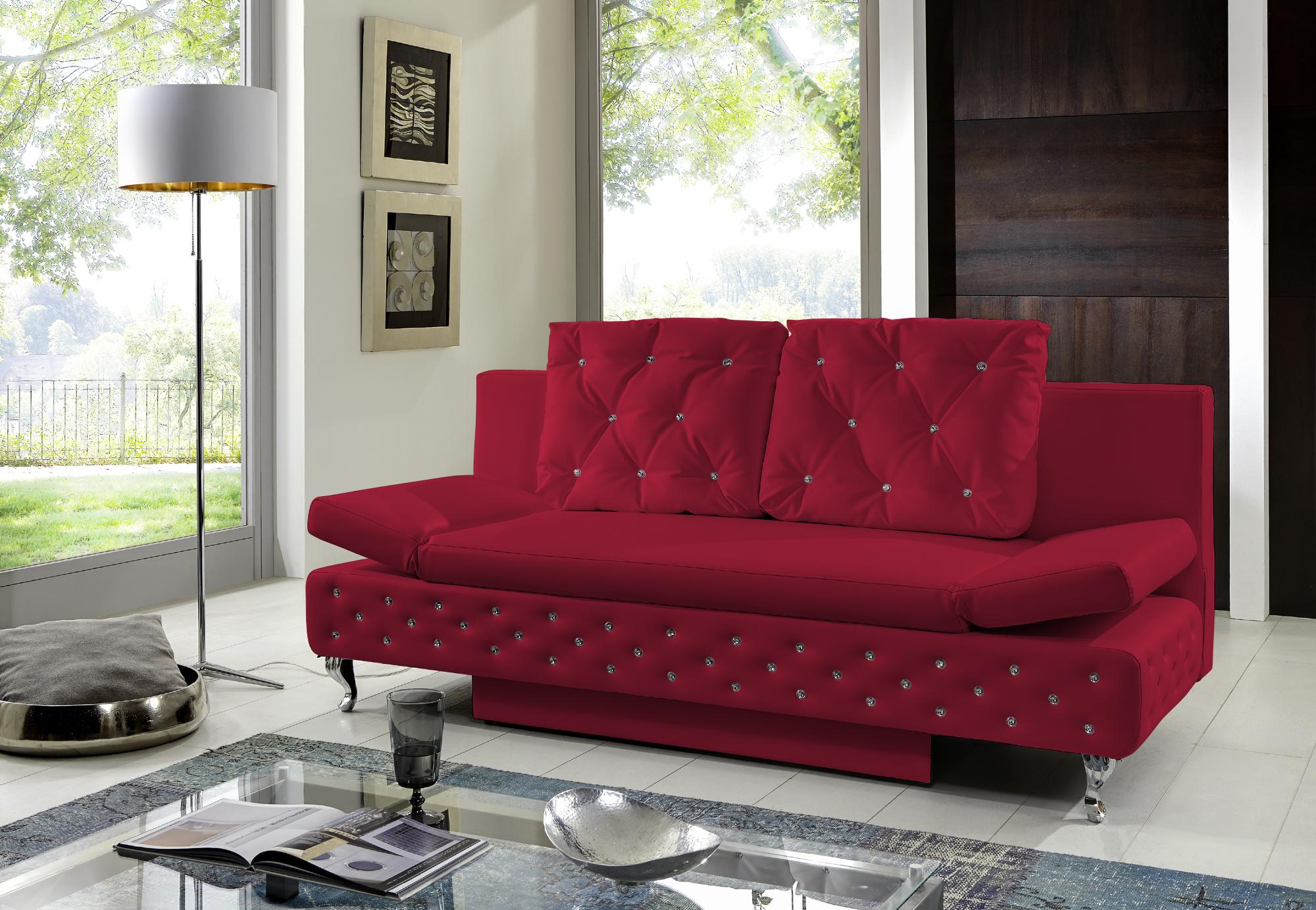 Schlafsofa rot  Ecksofa Rot Microfaser ~ Schöne sofas für ihr wohnzimmer finden ...