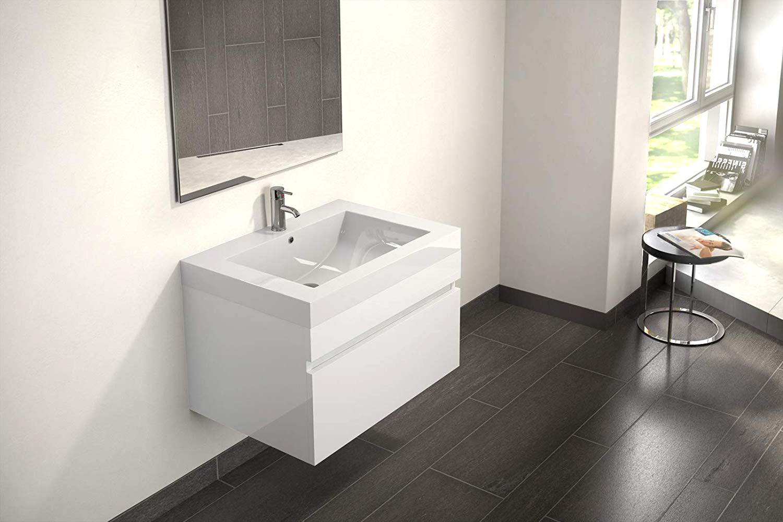 sam badm bel set 2tlg spiegel waschtisch 70 cm wei hochglanz parma. Black Bedroom Furniture Sets. Home Design Ideas